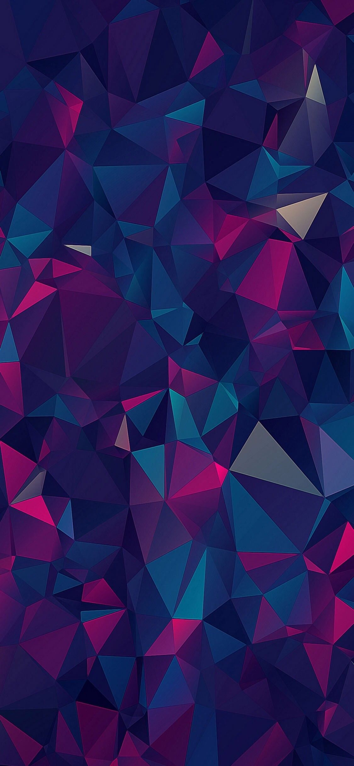 1125x2436 iOS 11, iPhone X, purple, blue, clean, simple, abstract ...