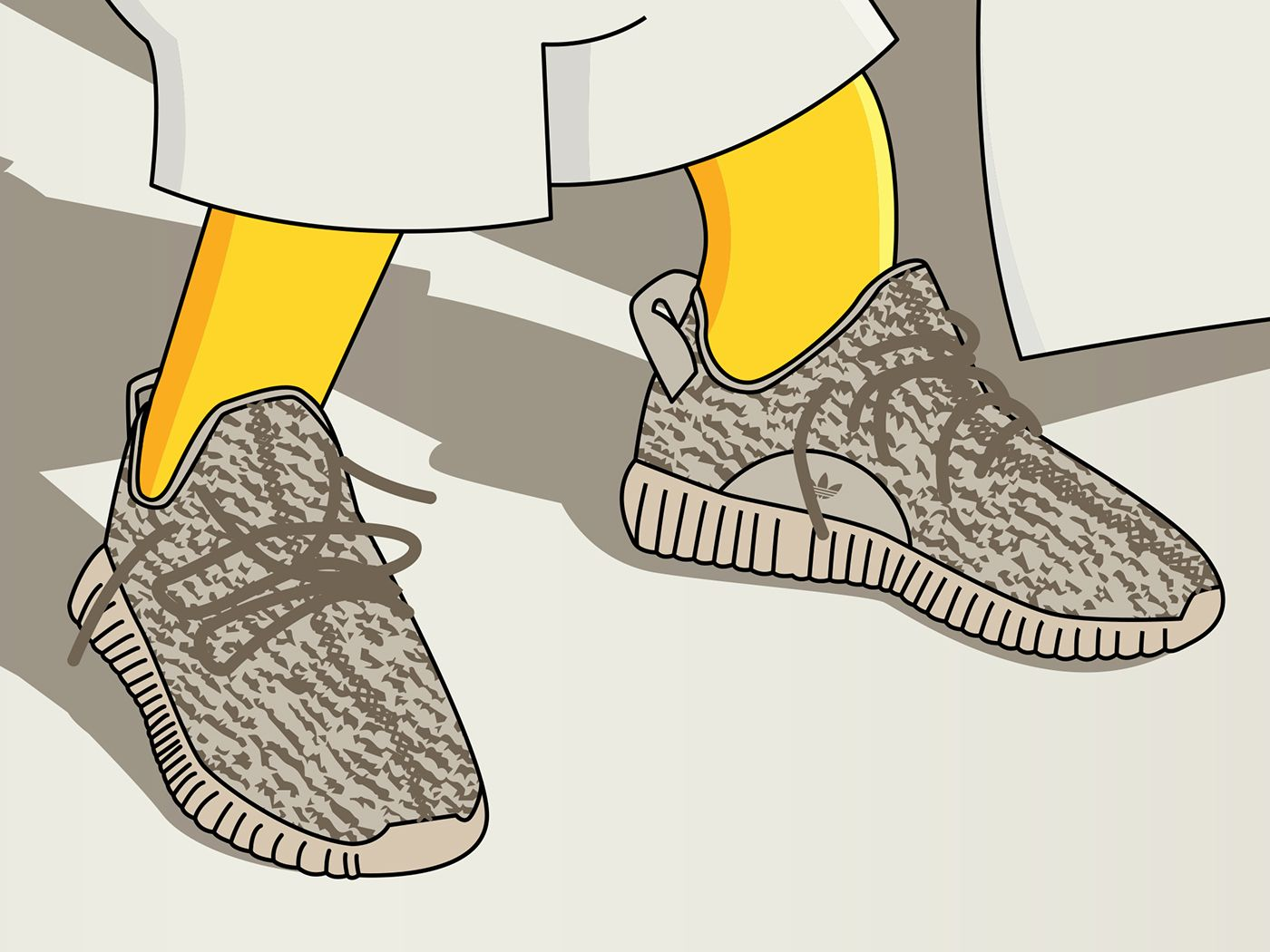1400x1050 Bart Simpson x Yeezy Boost 350 Oxford Tan on Behance