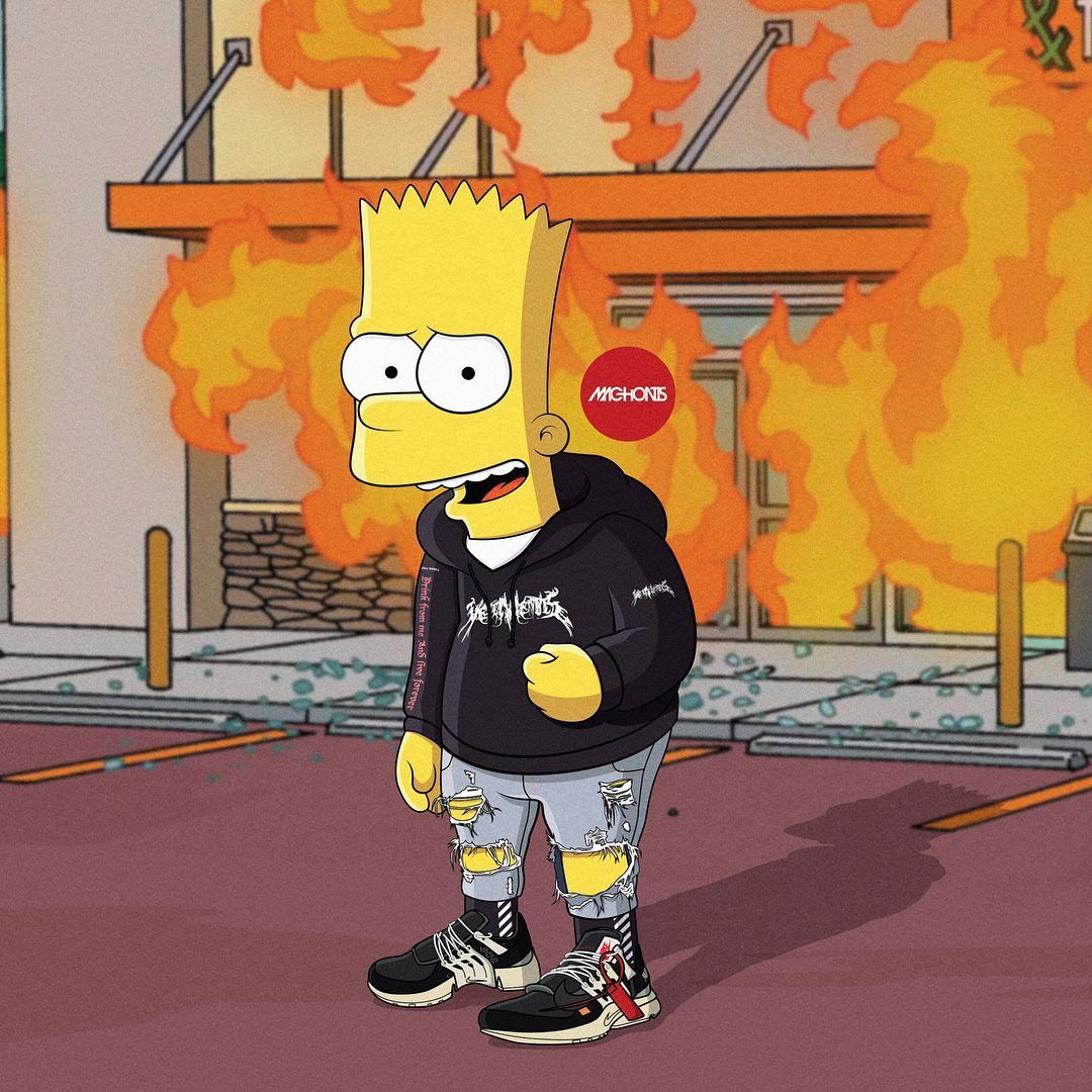 1080x1080 Yeezy Simpson Wallpapers Iphone Bart