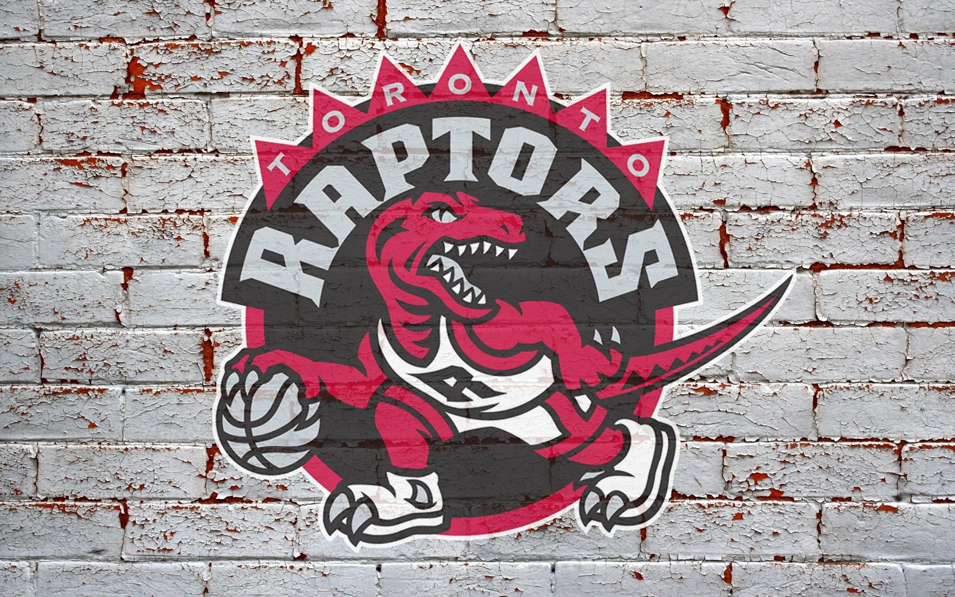 1920x1200 NBA Toronto Raptors Logo On Grey Brick Wall HD Wallpaper