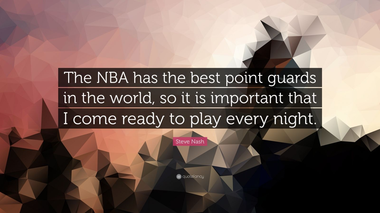 "1600x900 Steve Nash Quote: ""The NBA has the best point guards in the world ..."