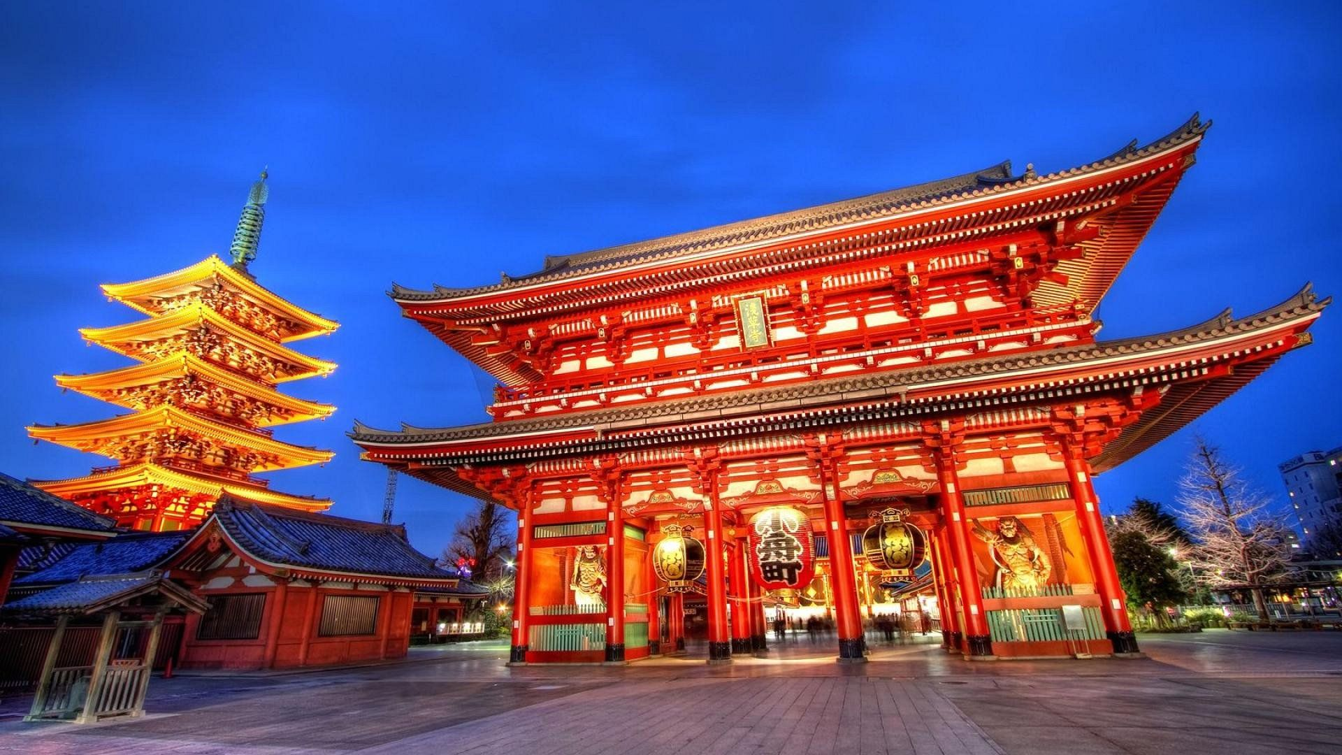 1920x1080 Wallpaper Temple In Tokyo Japan - 1920 x 1080 - Cities Metropolis ...
