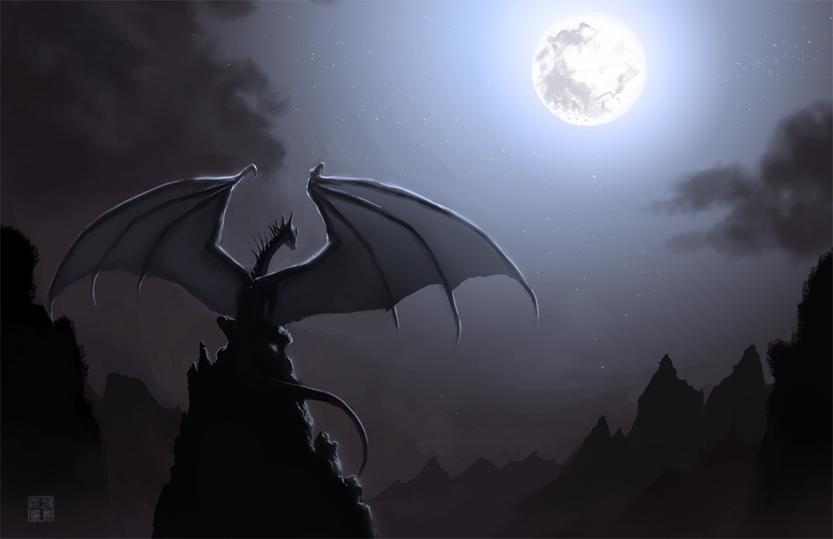 1200x776 Dragons Night wallpaper from Dragons wallpapers