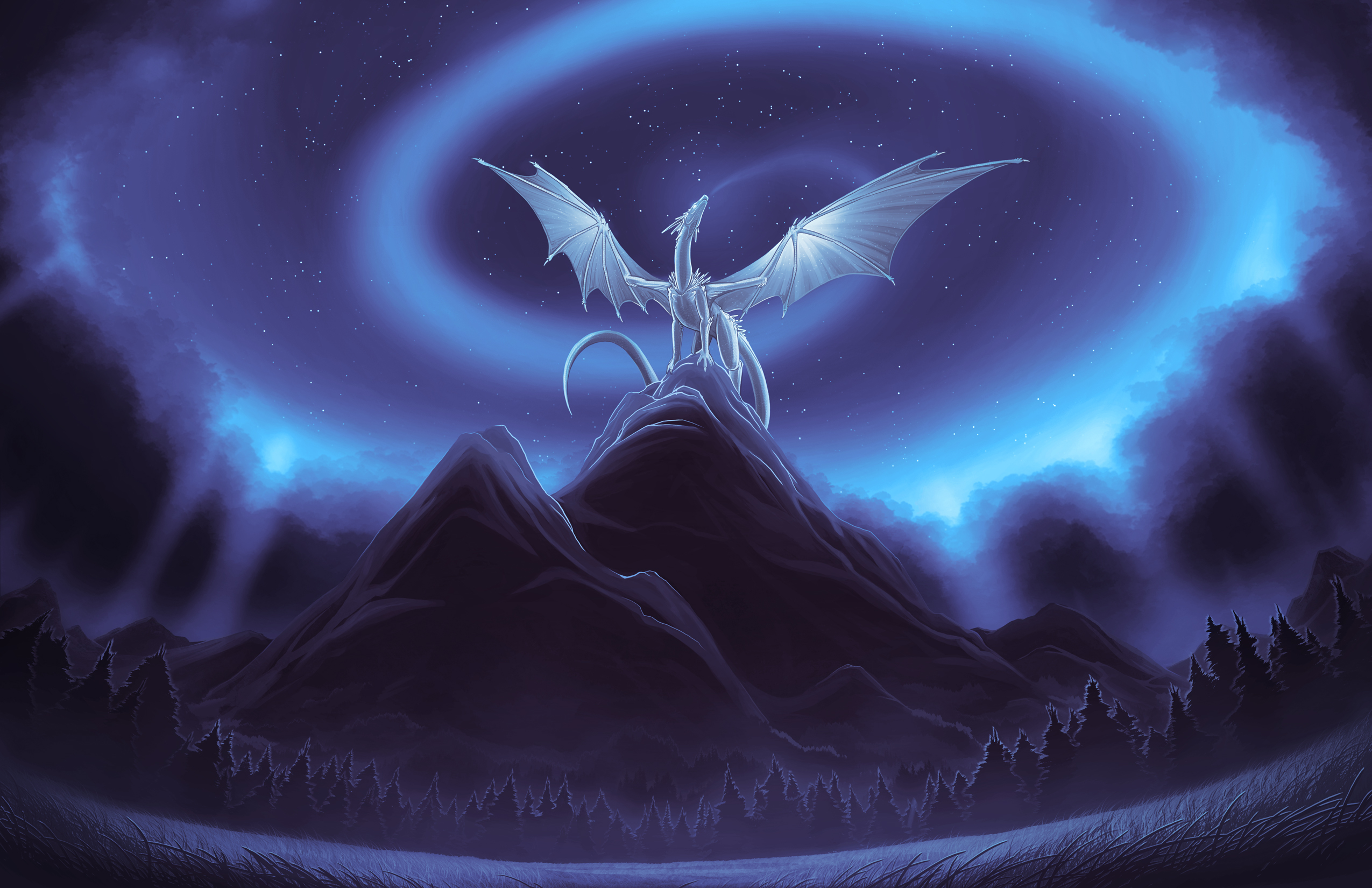 2550x1650 White Dragon On Mountain, HD Artist, 4k Wallpapers, Images ...