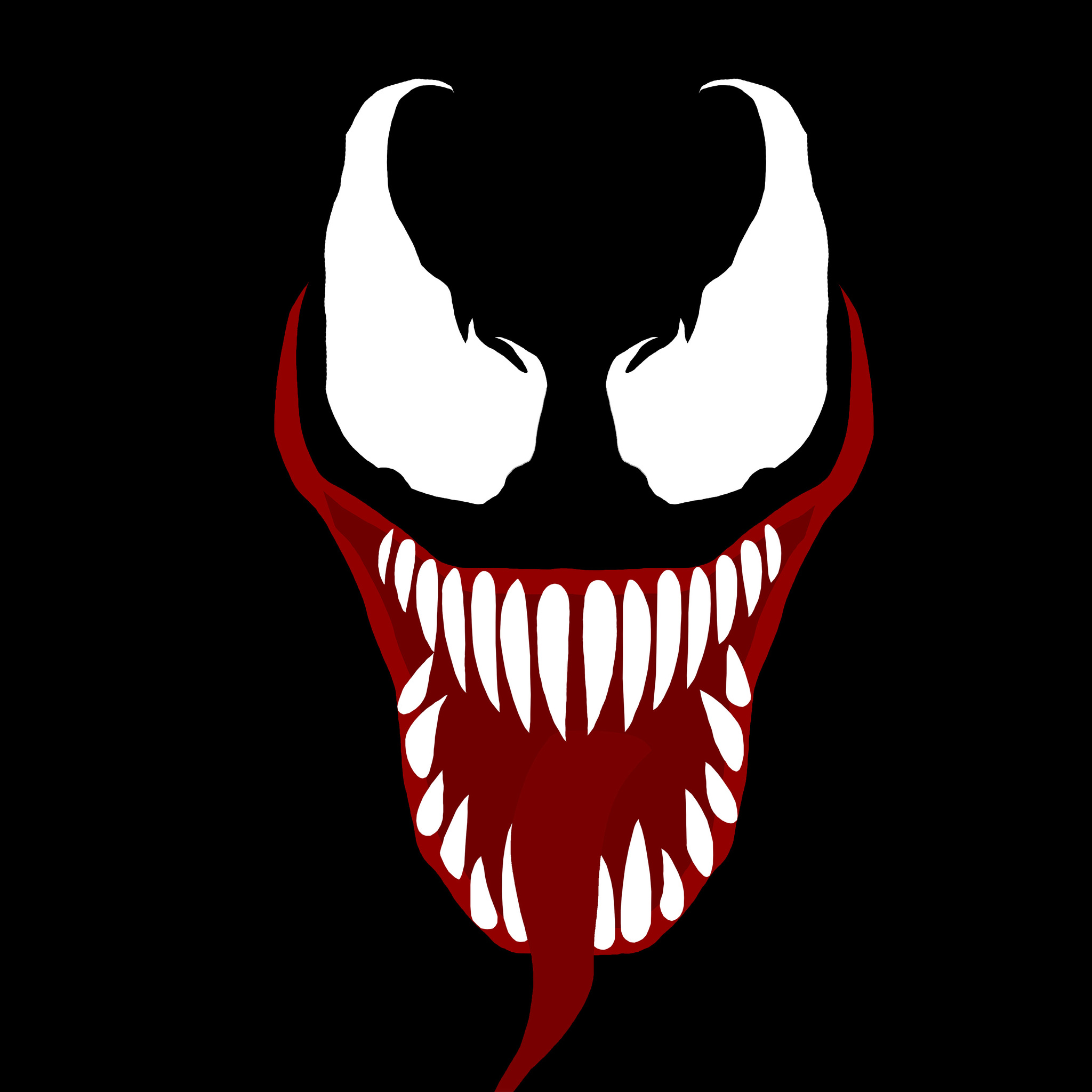 2048x2048 2048x2048 Venom Movie Face Ipad Air HD 4k Wallpapers, Images ...