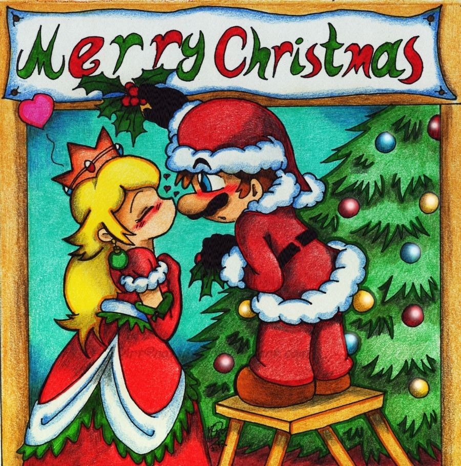 900x909 Mario and Peach images Merry Christmas HD wallpaper and background ...