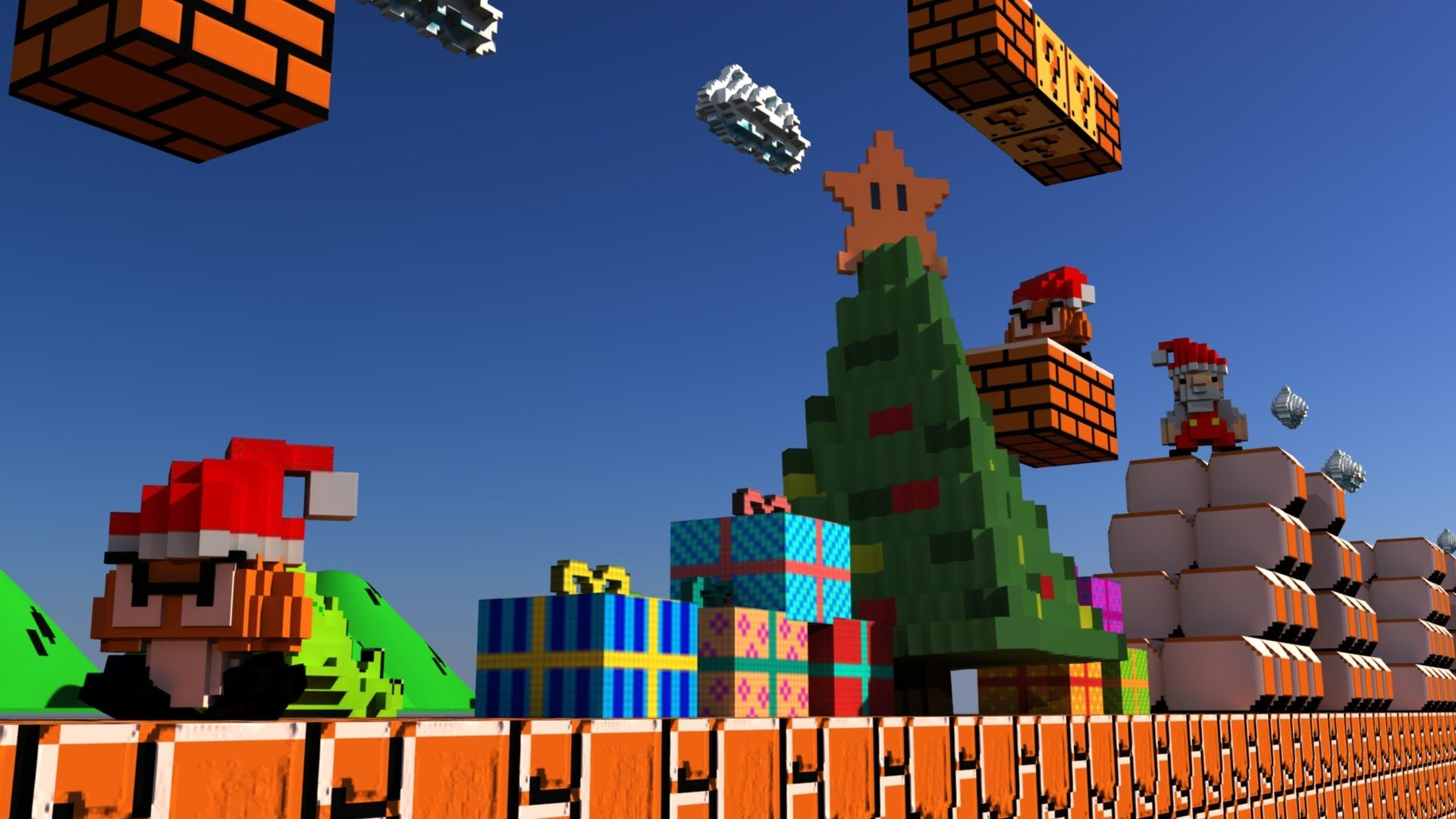 1920x1080 Super Mario Bros 3D 360 VR – Merry Christmas and Happy New Year – 360AK