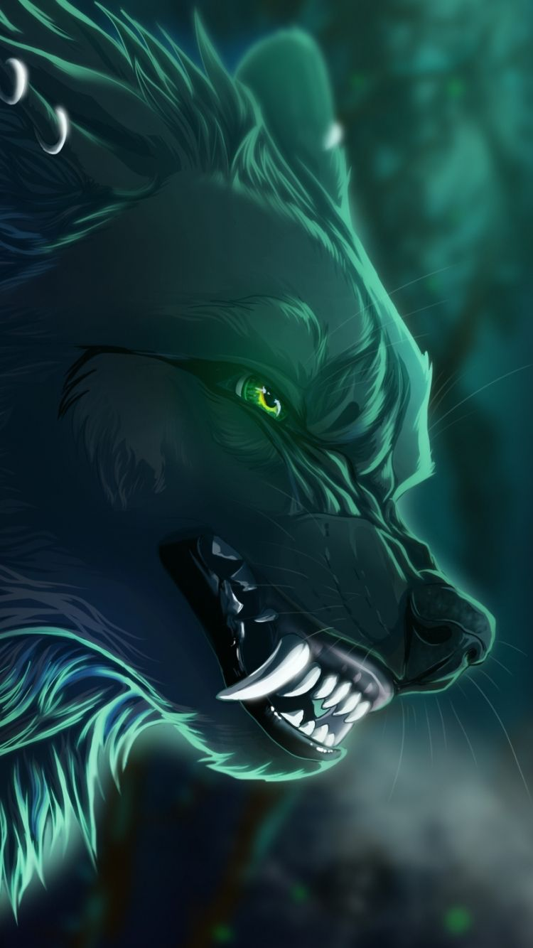 750x1334 Pin by Srikanth Reddy on iPhone 6 Wallpapers | Wolf, Anime wolf ...