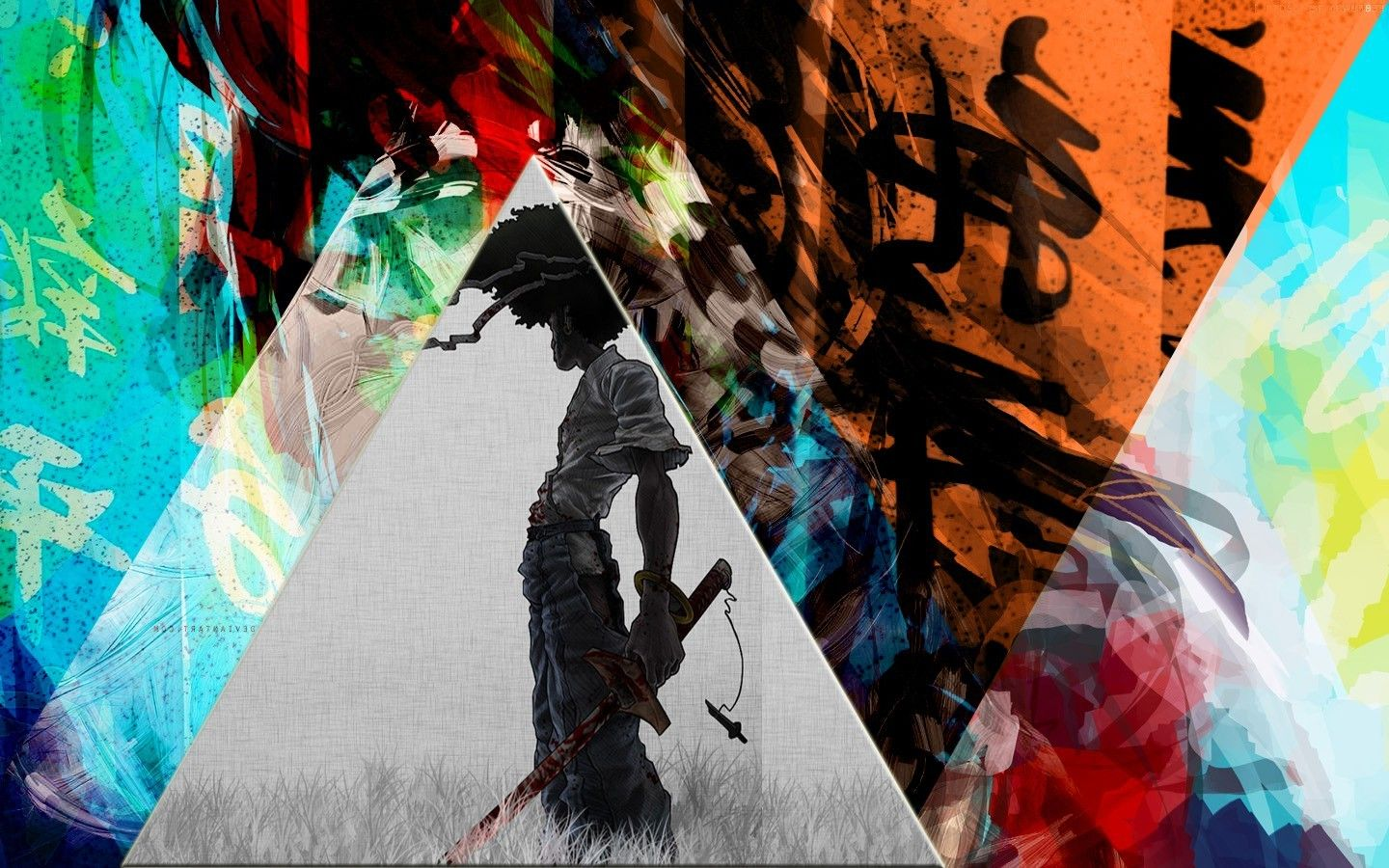 1440x900 Afro Samurai, Colorful, Chinese, Triangle, Mixed Martial Arts ...