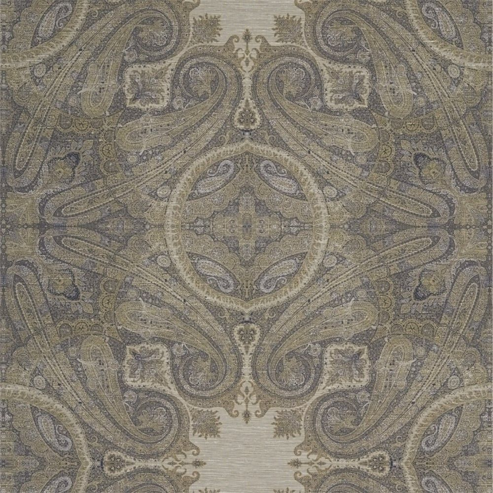 1000x1000 Zoffany Elswick Paisley Wallpaper - Blue Umber - Wallpaper By New ...