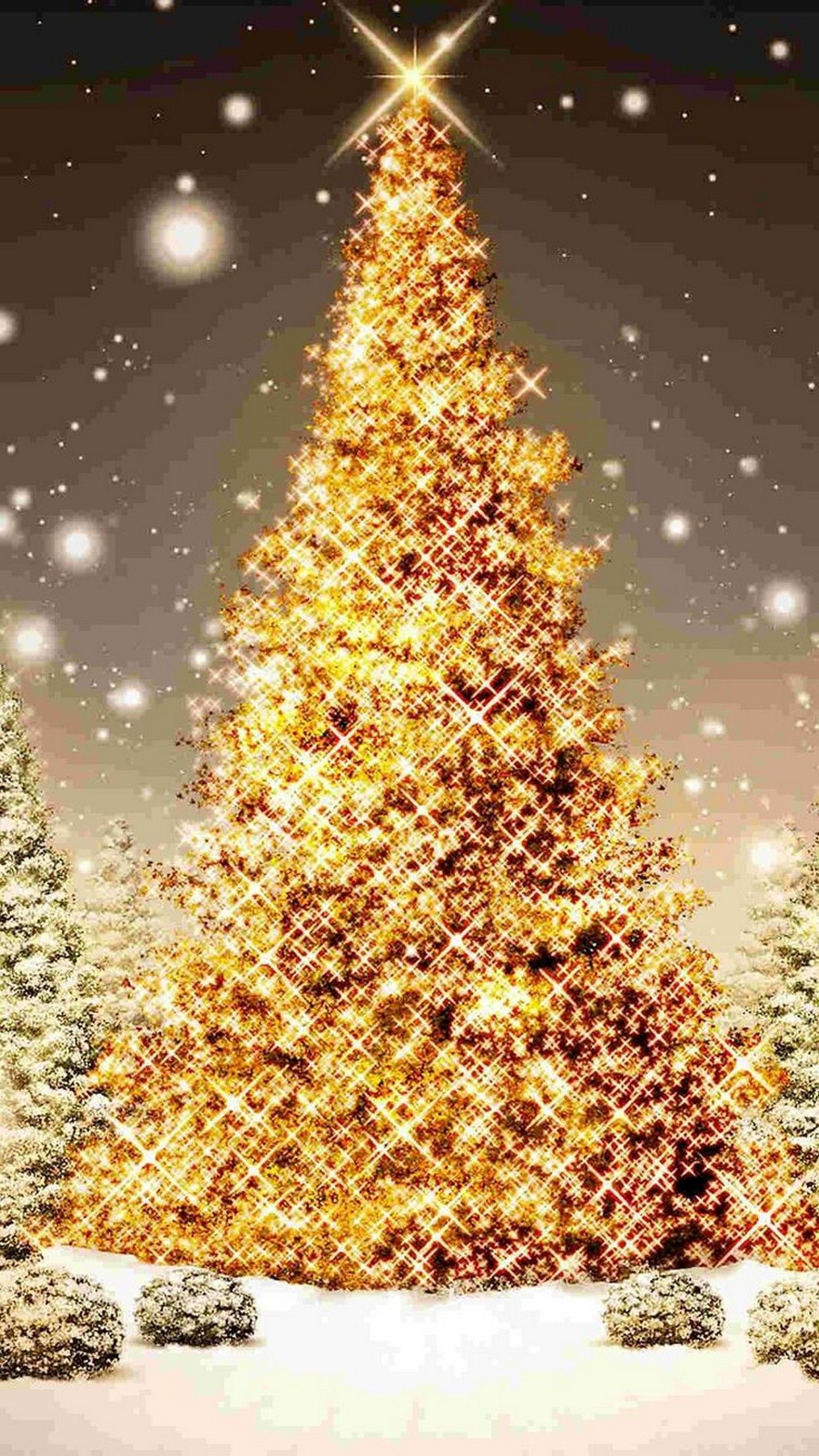 1242x2208 60+ Pretty Christmas Wallpapers on WallpaperPlay