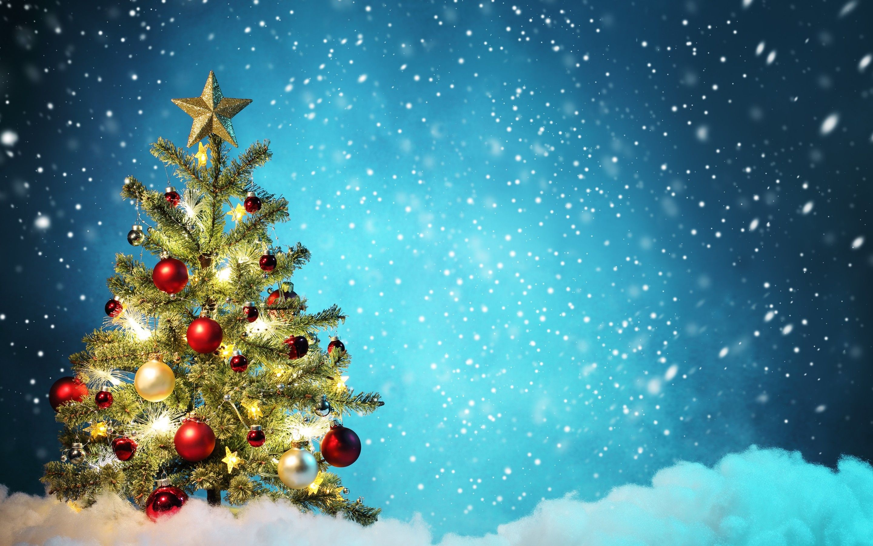 2880x1800 Cute Christmas Tree Backgrounds – Happy Holidays!