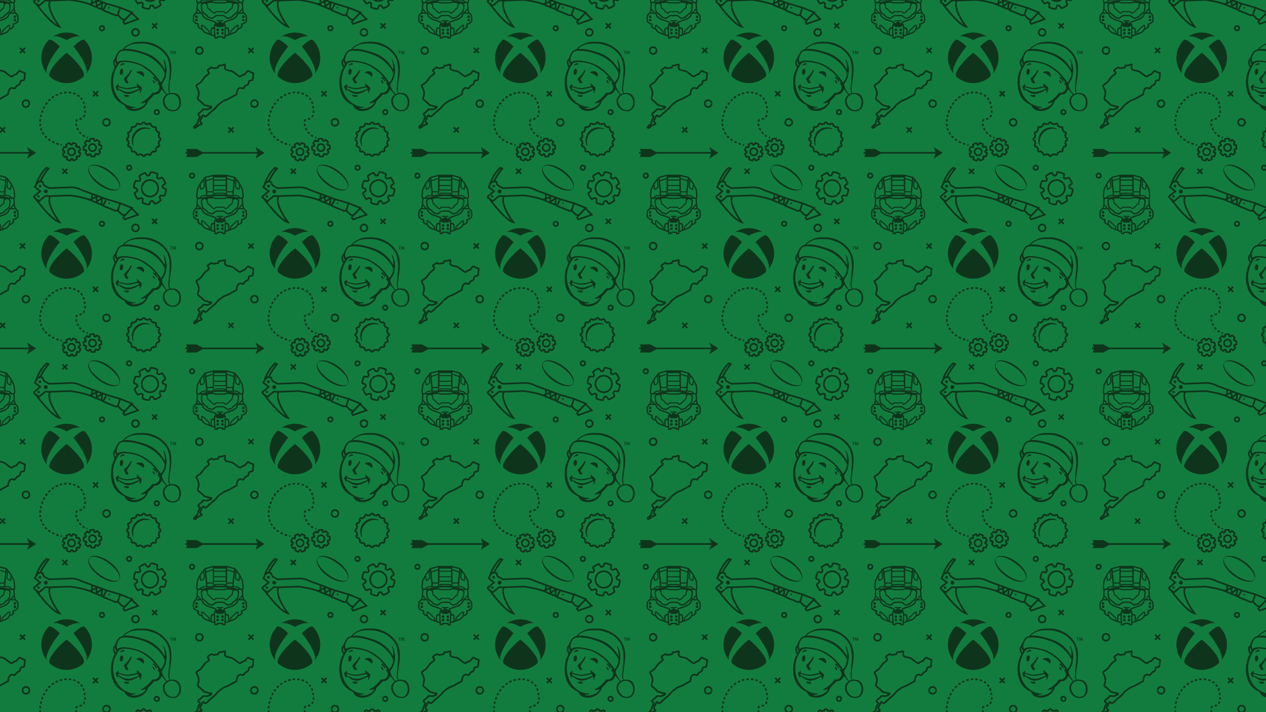 2560x1440 Ollie Hoff › Xbox Christmas Wrapping paper