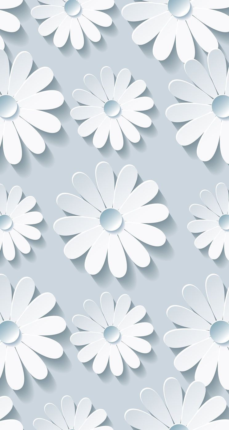 744x1392 Wallpapers#flowers#white | Wallpapers/Backgrounds | Pinterest ...