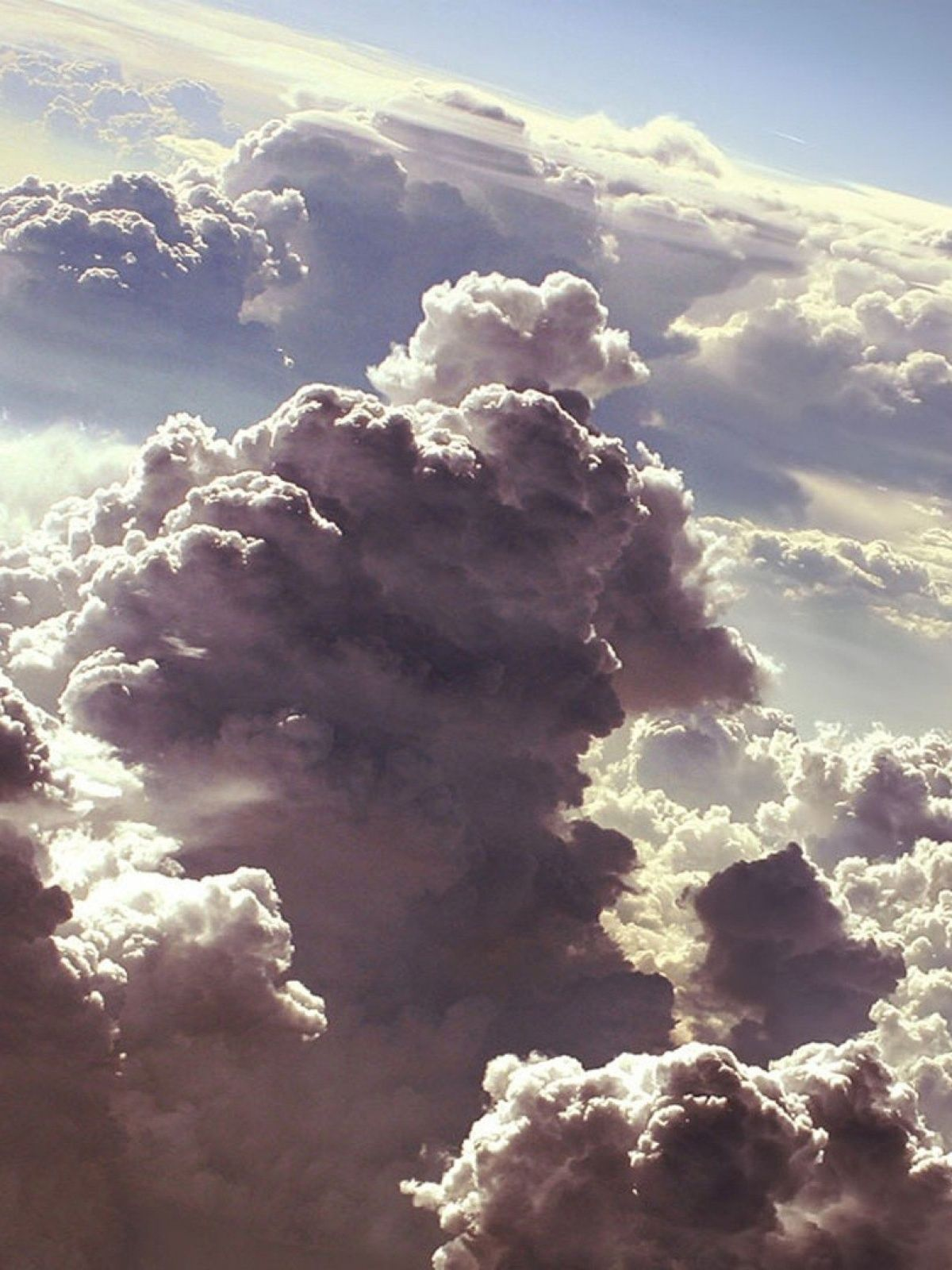 1200x1600 Clouds Artwork Mobile Wallpaper - Mobiles Wall