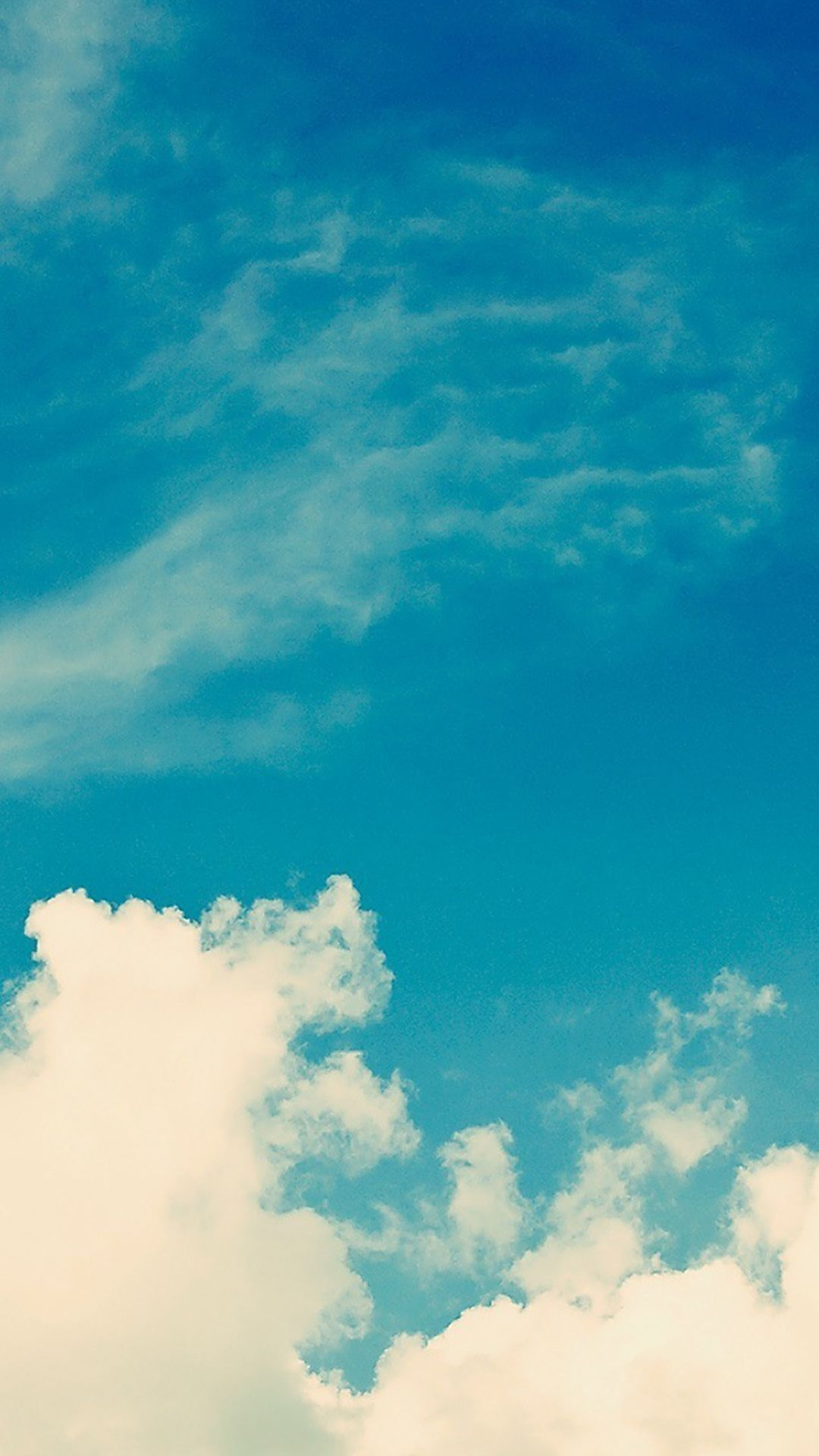 1080x1920 White Vintage Clouds Blu Sky iPhone 6 Plus HD Wallpaper #iphone ...