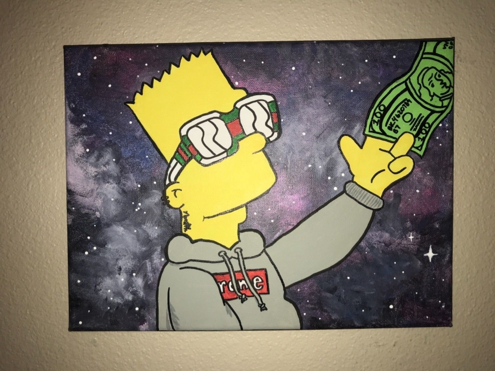 1600x1200 Gangster Bart Simpson Art Painting On Canvas for Sale - Holidays.net