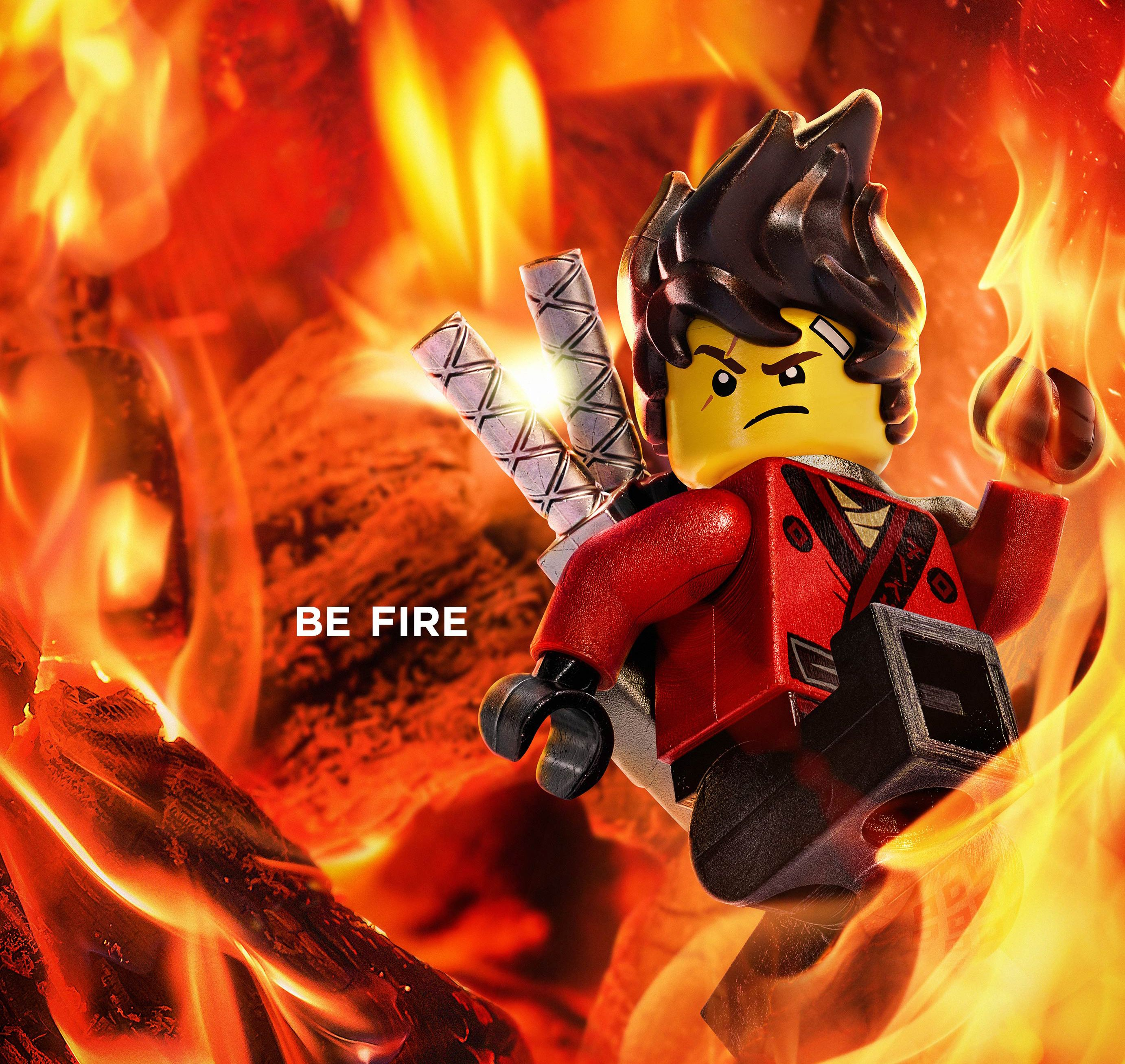 2764x2613 Wallpaper Kai, The Lego Ninjago Movie, Be Fire, Animation, 2017 ...