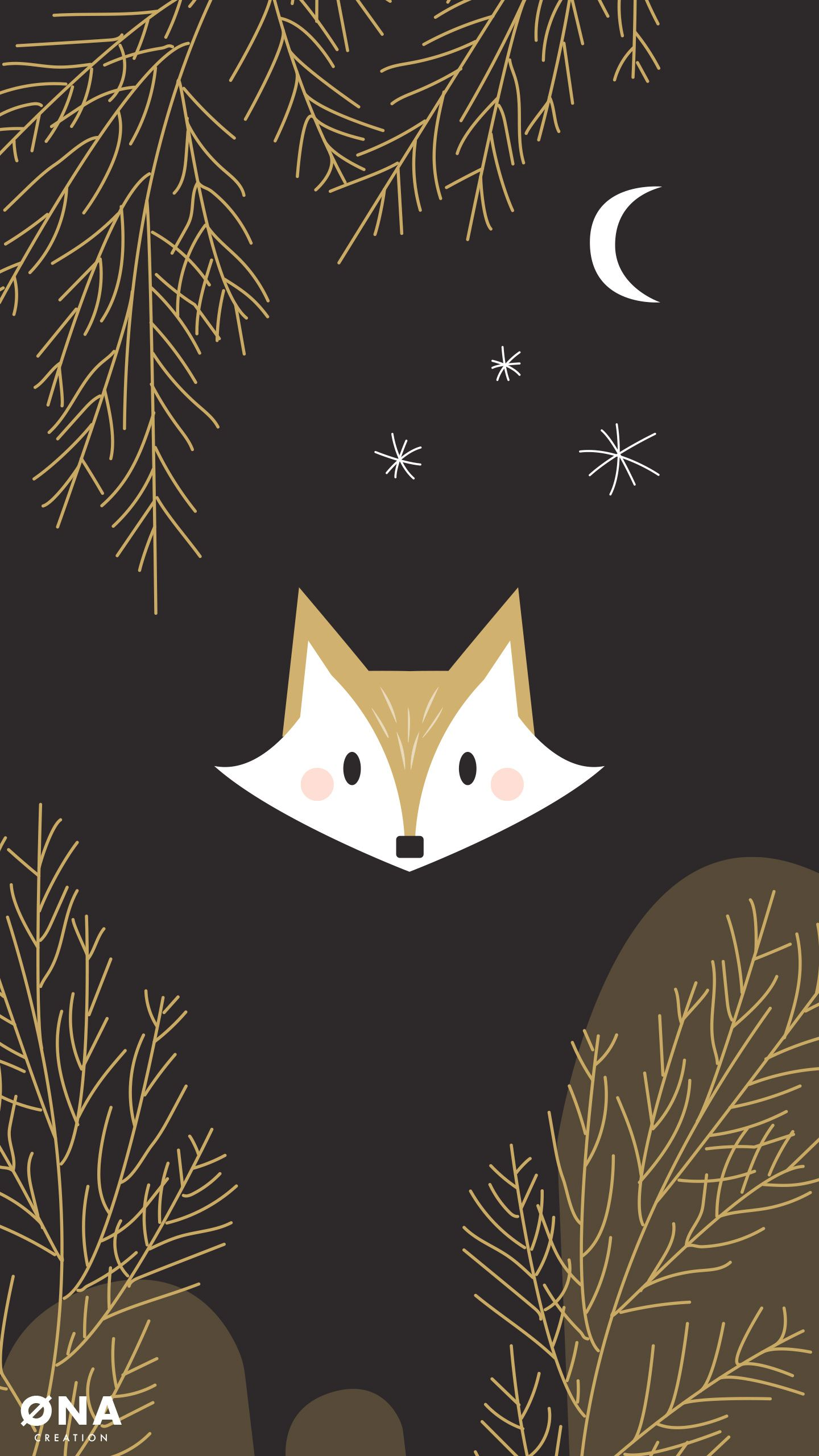1440x2560 Free Wallpapers Deer, Fox, Owl, raccoon, for iPhone and Android - ONA