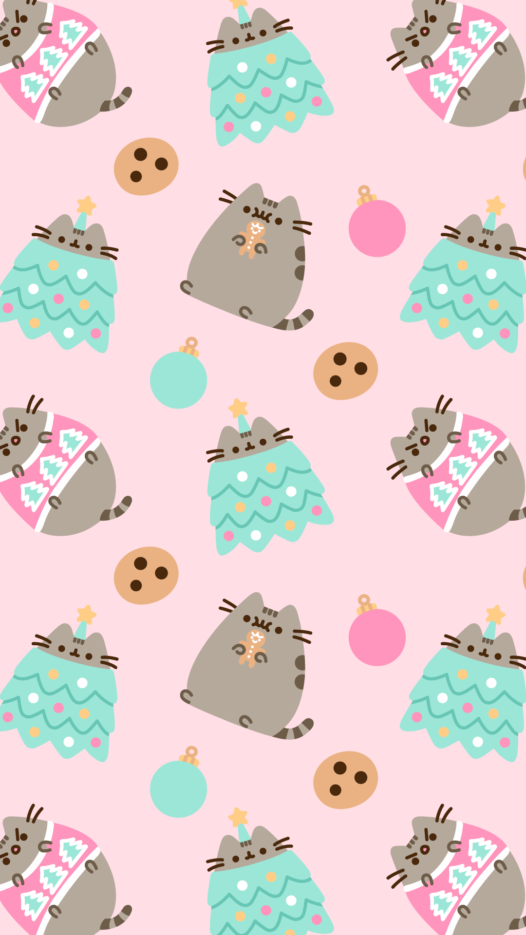 1080x1920 FREE Exclusive Pusheen Android and iPhone® Christmas Wallpapers ...