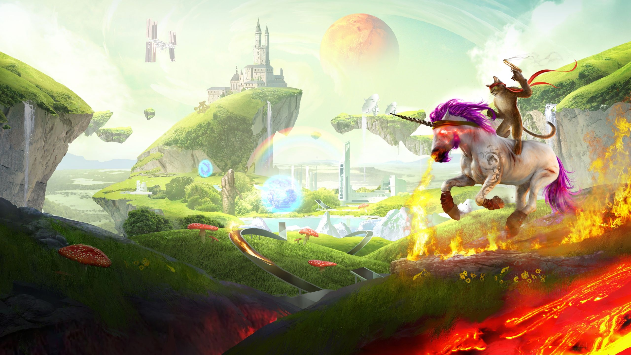 2560x1440 Trials Fusion Unicorn Cat Wallpapers in jpg format for free ...