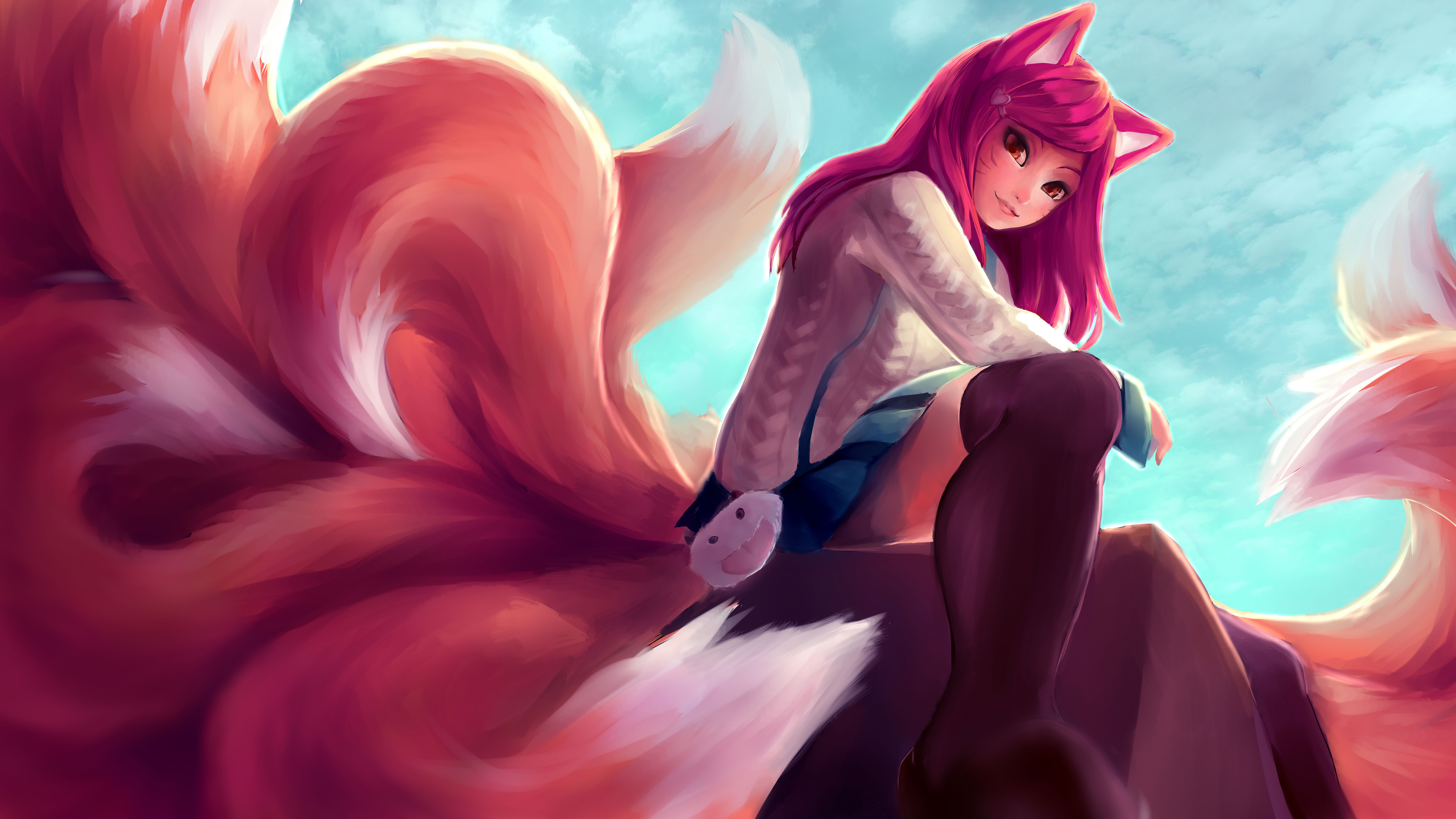 7680x4320 243 Ahri (League Of Legends) HD Wallpapers | Background Images ...