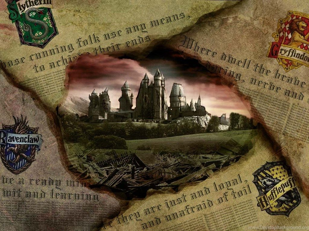 1024x768 Wallpapers Hogwarts Castle Harry Potter Hufflepuff Gryffindor ...