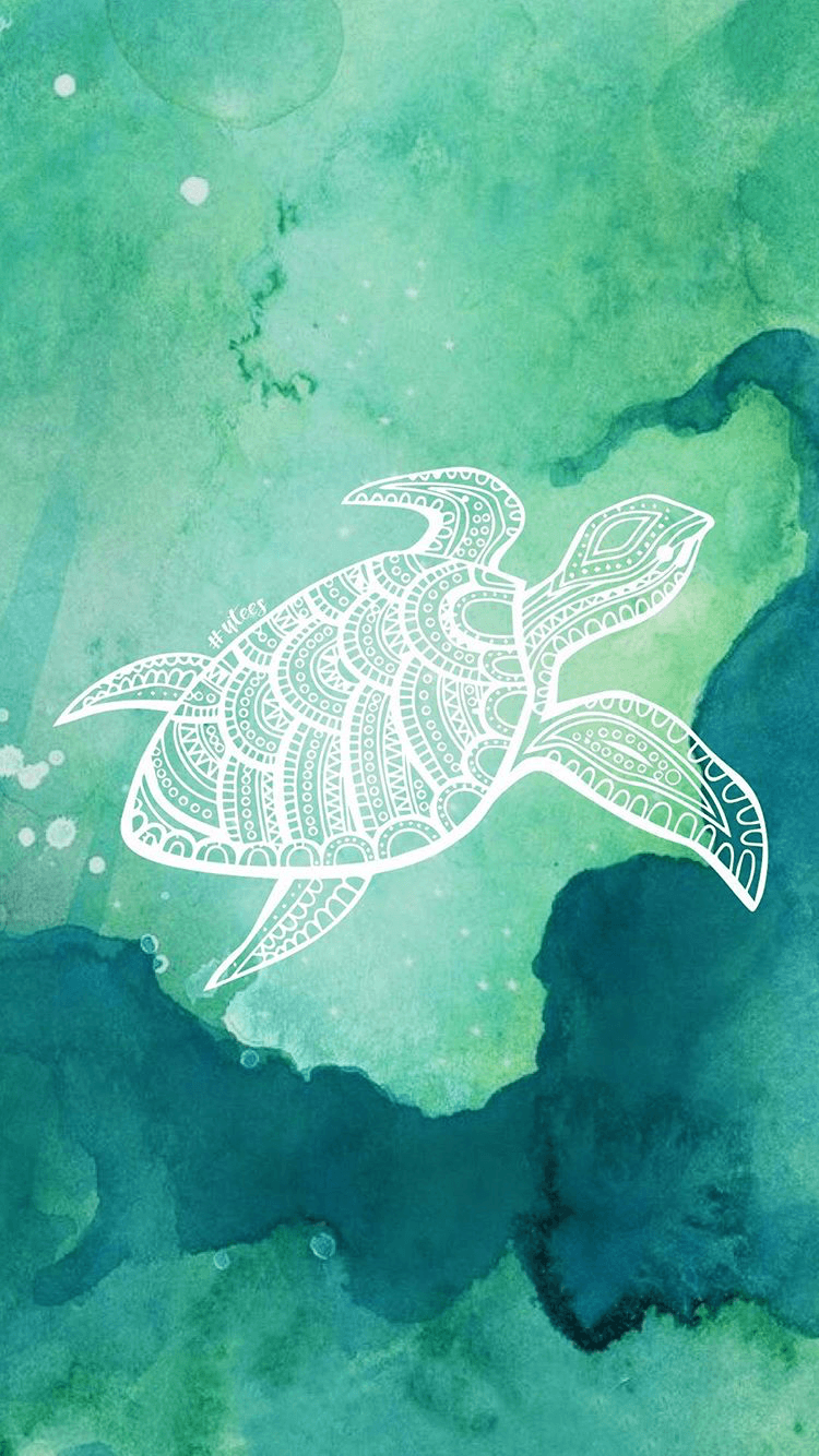 750x1334 Turtle Love Wallpaper Background I Made by University Tees Design ...