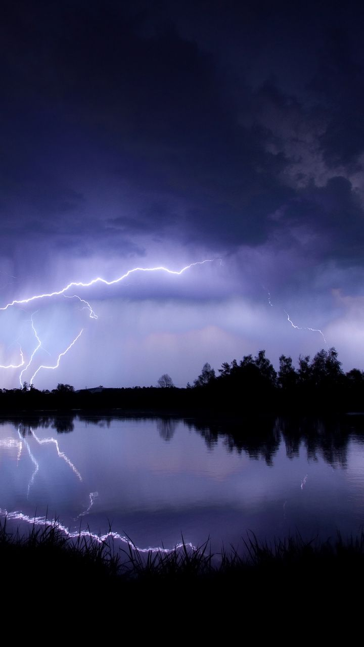 720x1280 Download 720x1280 Wallpaper Thunder, Electricity, Night, Lightning ...