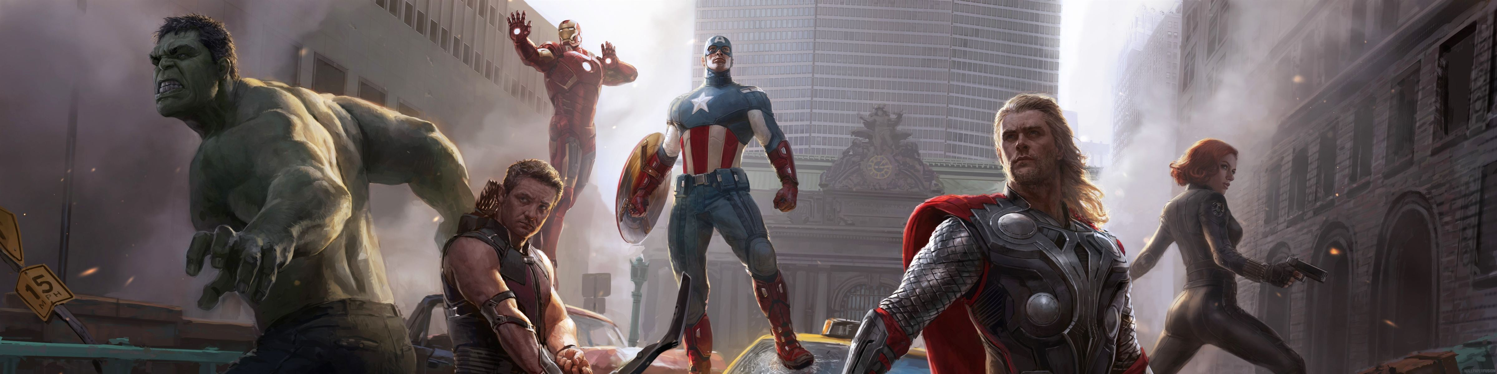4800x1200 Avengers Age of Ultron Team Wallpaper 14 - 4800 X 1200 | Imgnooz.com
