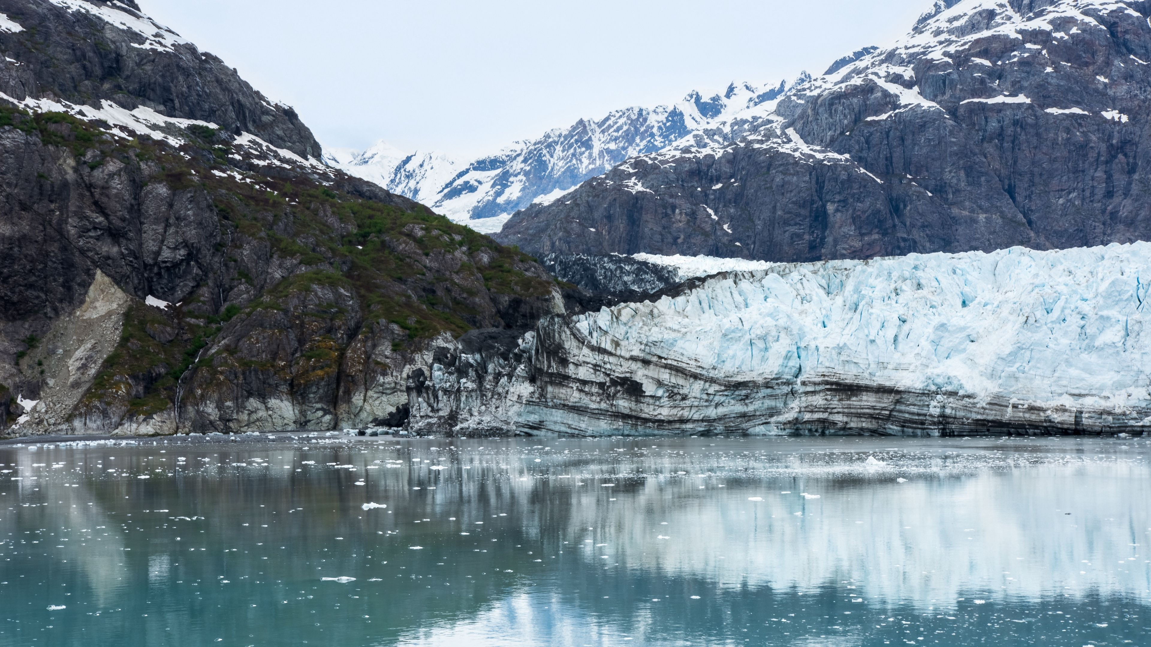 3840x2160 Download wallpaper 3840x2160 alaska, margerie, bay, glacier ...