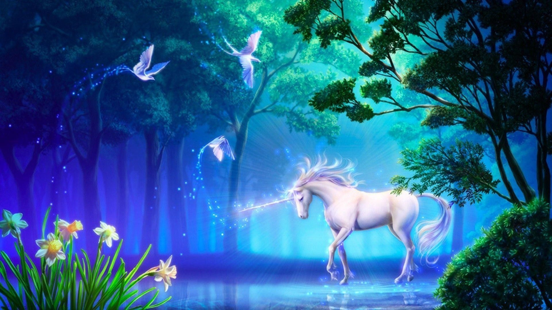1920x1080 Fantasy Unicorn Wallpaper ·①