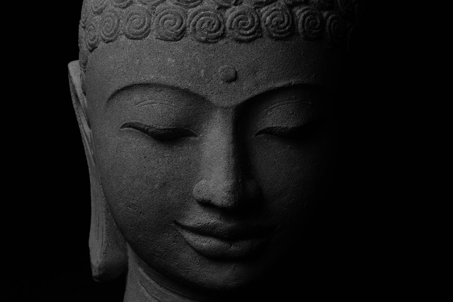 1500x1000 Order Buddha Stone Face Wallpaper to create fantastic wall decor in ...