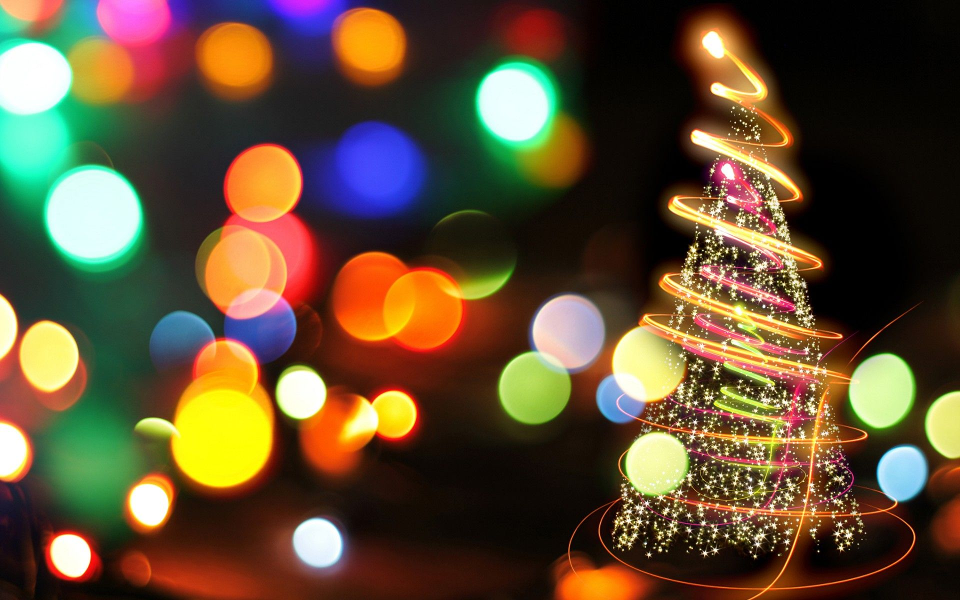 1920x1200 Free HD Christmas Lights Wallpapers | PixelsTalk.Net