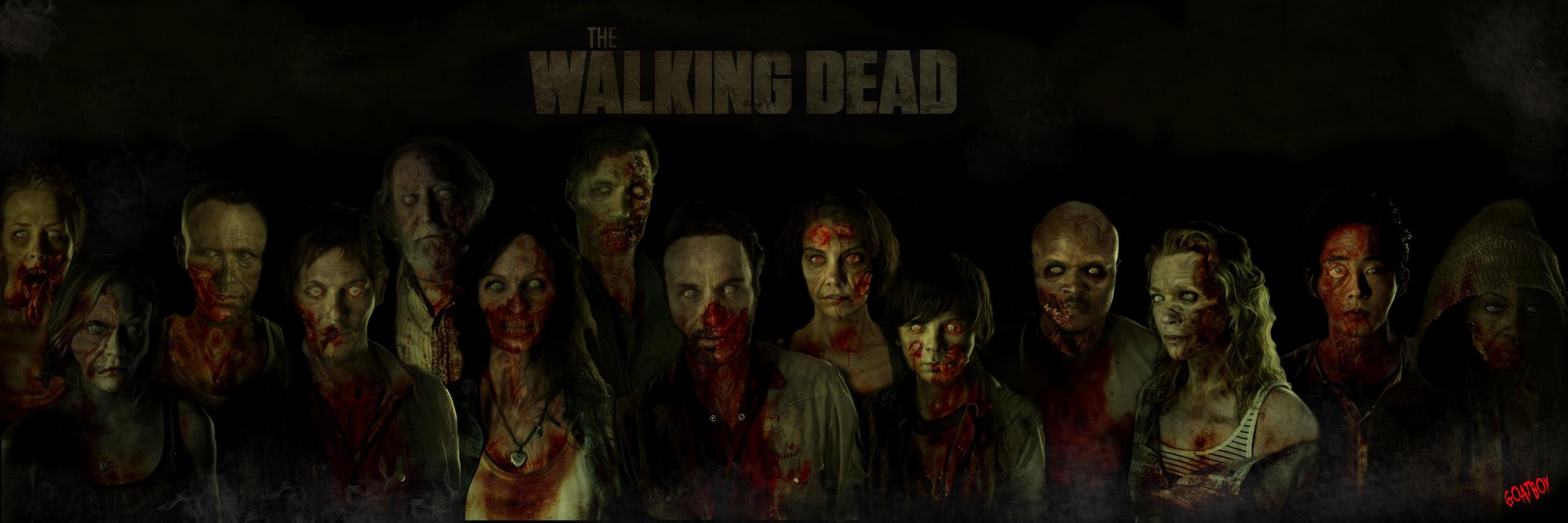 2560x854 Dual monitor The Walking Dead wallpapers, HD backgrounds