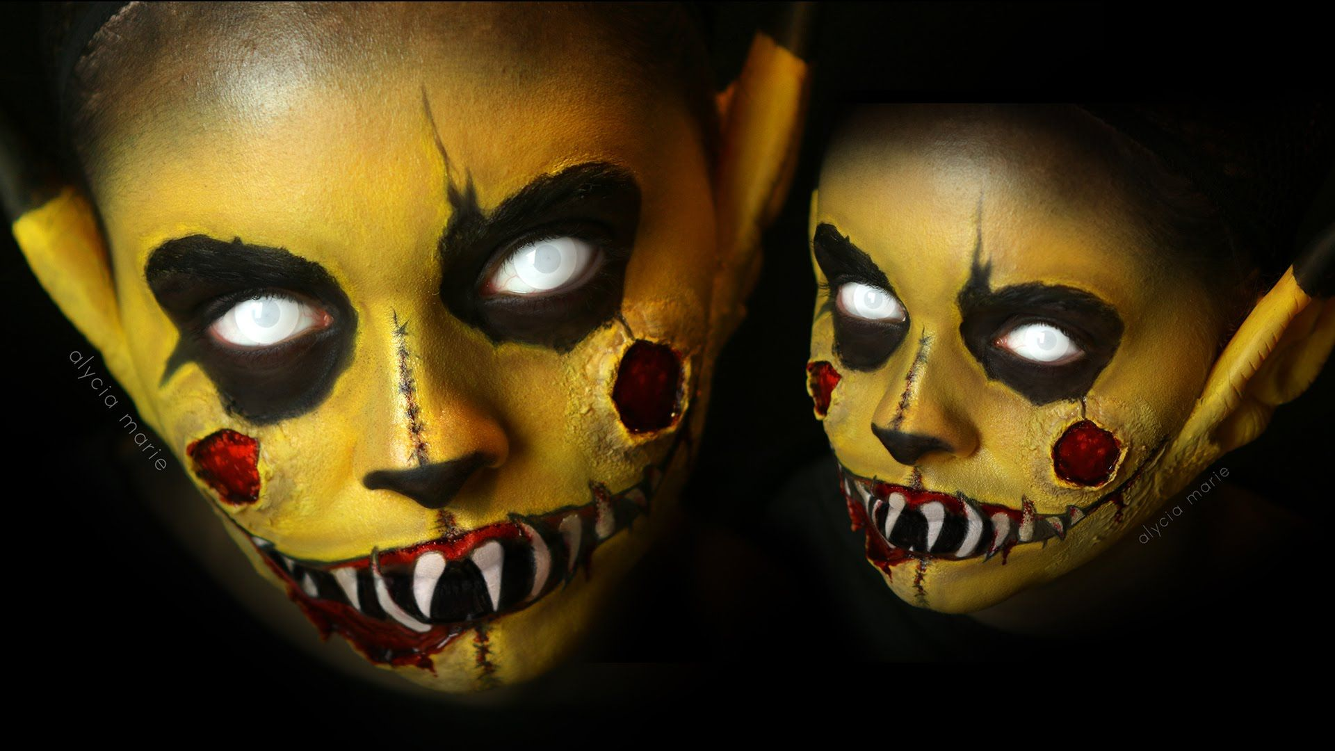 1920x1080 ZOMBIE PIKACHU - Pokemon Makeup Tutorial - YouTube