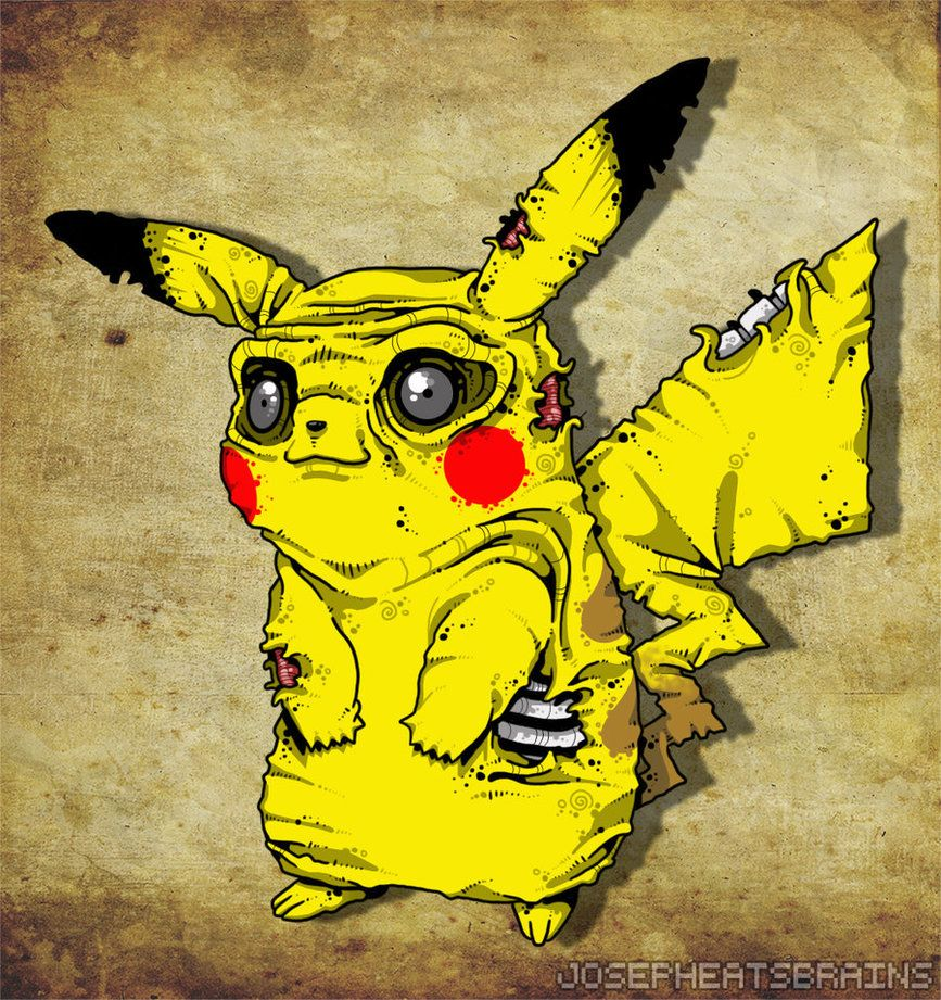 867x921 ZOMBIE PIKACHU by nappydread on DeviantArt