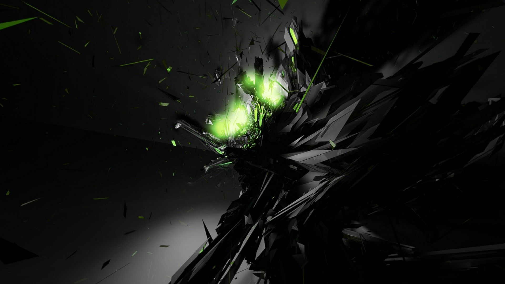 1920x1080 Black Abstract Green Glow Desktop Wallpaper | He is soooo sweeet <3 ...