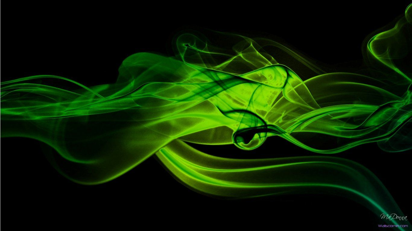 1366x768 Black and green wallpapers - SF Wallpaper