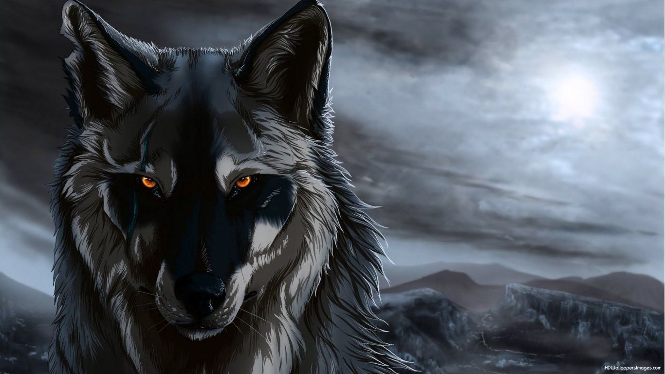1366x768 Draghi Sfondo Hd Beautiful Anime Wolf Wallpapers Wallpaper Cave ...