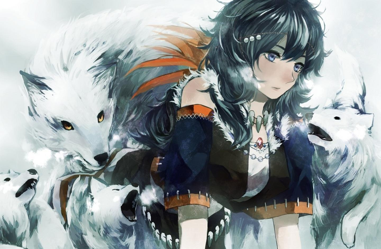 1440x943 Anime Wolf Girl Wallpaper images