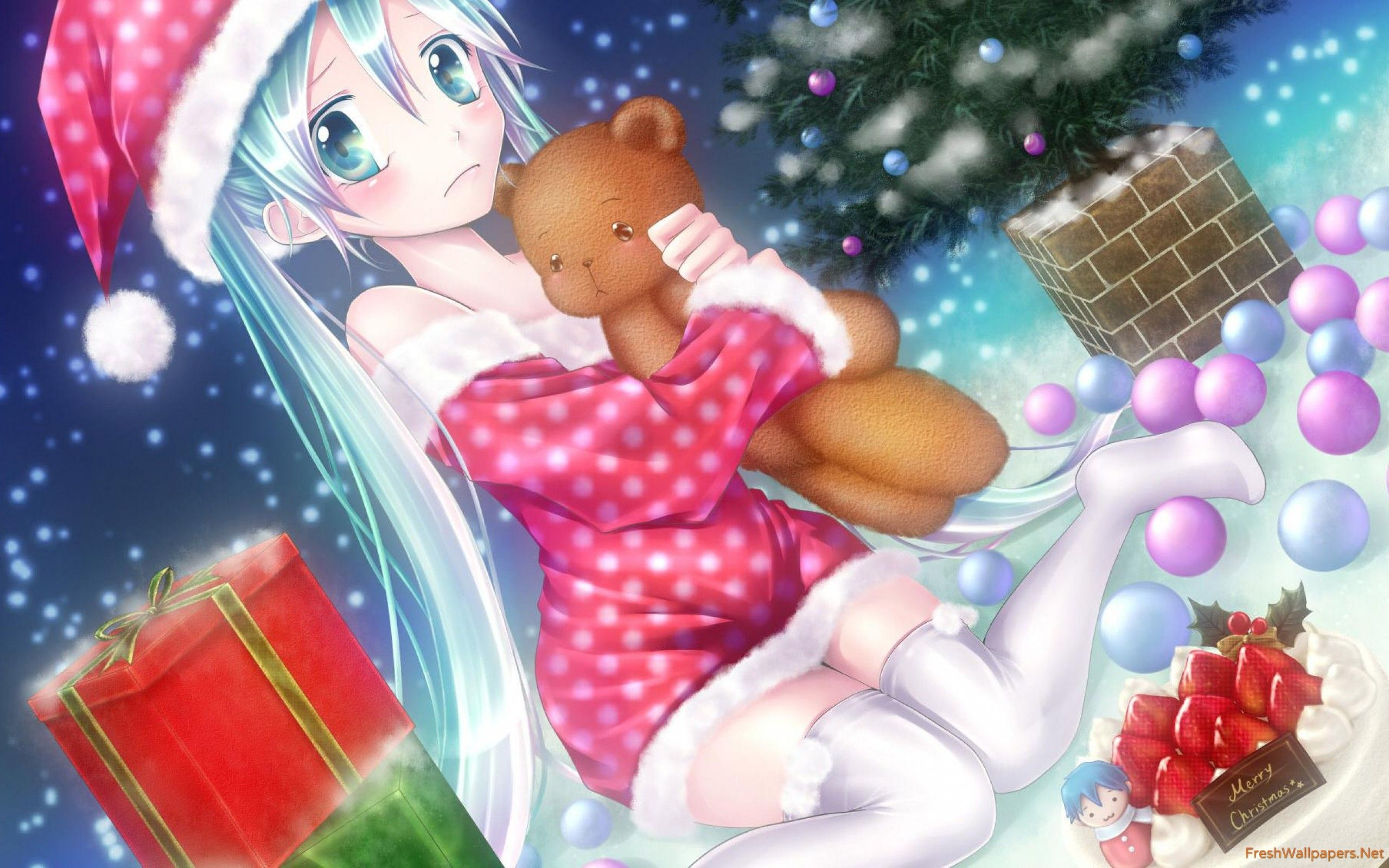2560x1600 Vocaloid Christmas with Hatsune Miku wallpapers | Freshwallpapers