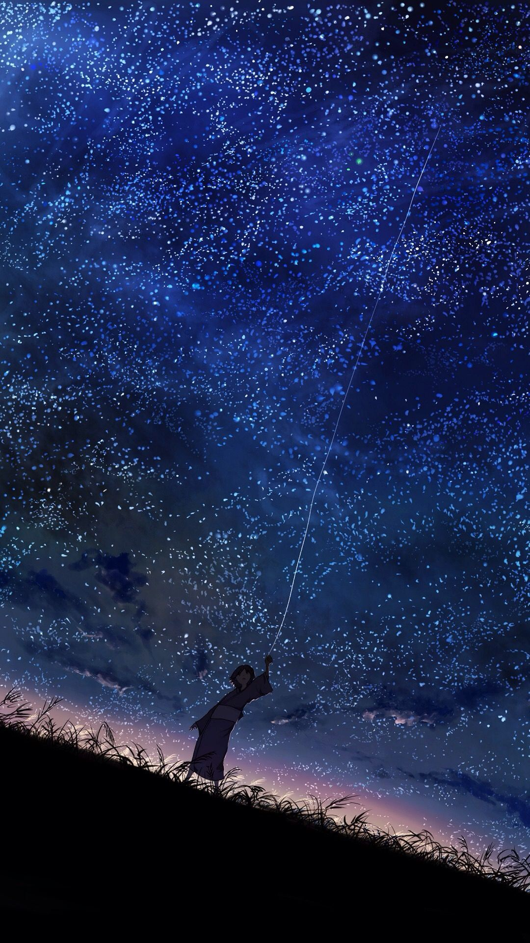 1080x1920 starry skyscape / anime art | Dreamy SKYSCAPES. | Pinterest | Anime ...