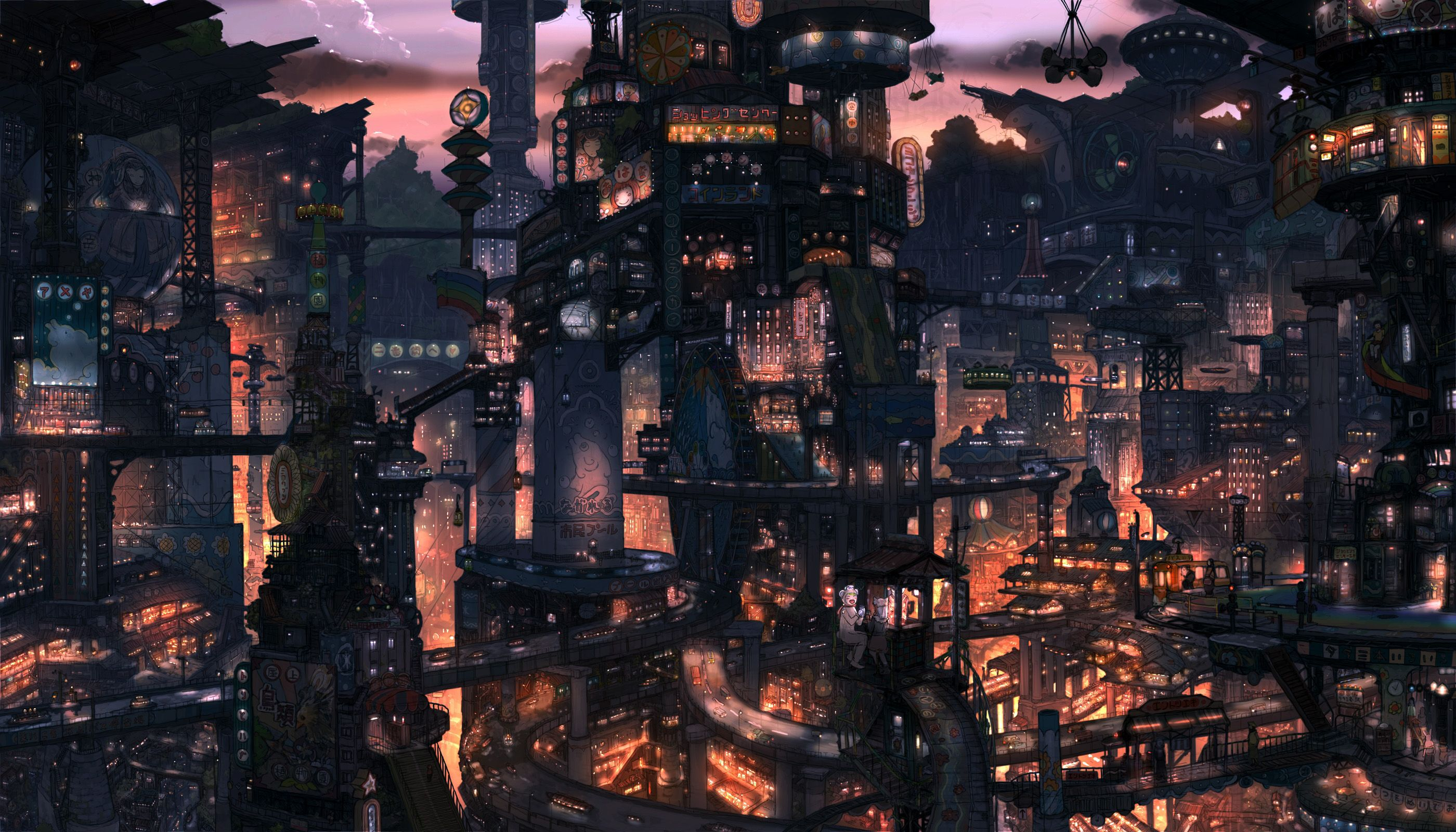 2800x1600 cityscapes, buildings, surreal, imperial boy, digital art :: Wallpapers