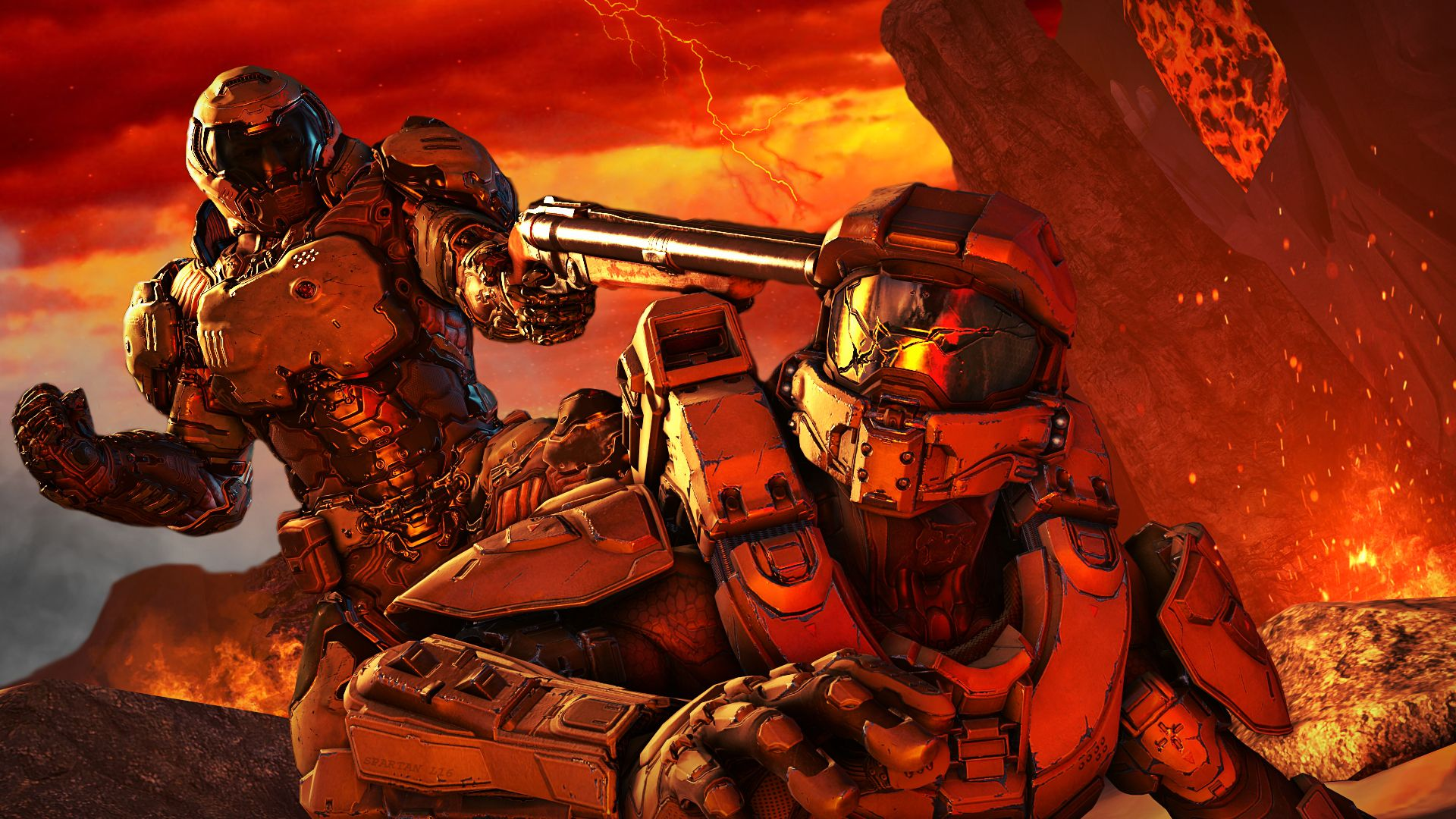 1920x1080 Doom Slayer > Master Chief : gaming