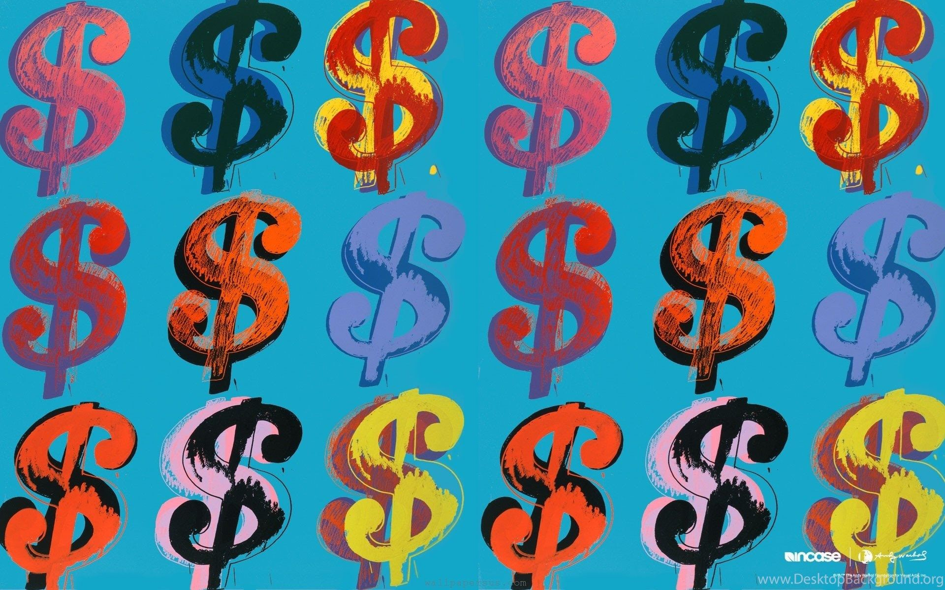 1920x1200 Famous Painting Andy Warhol Dollars Wallpapers And Images ...