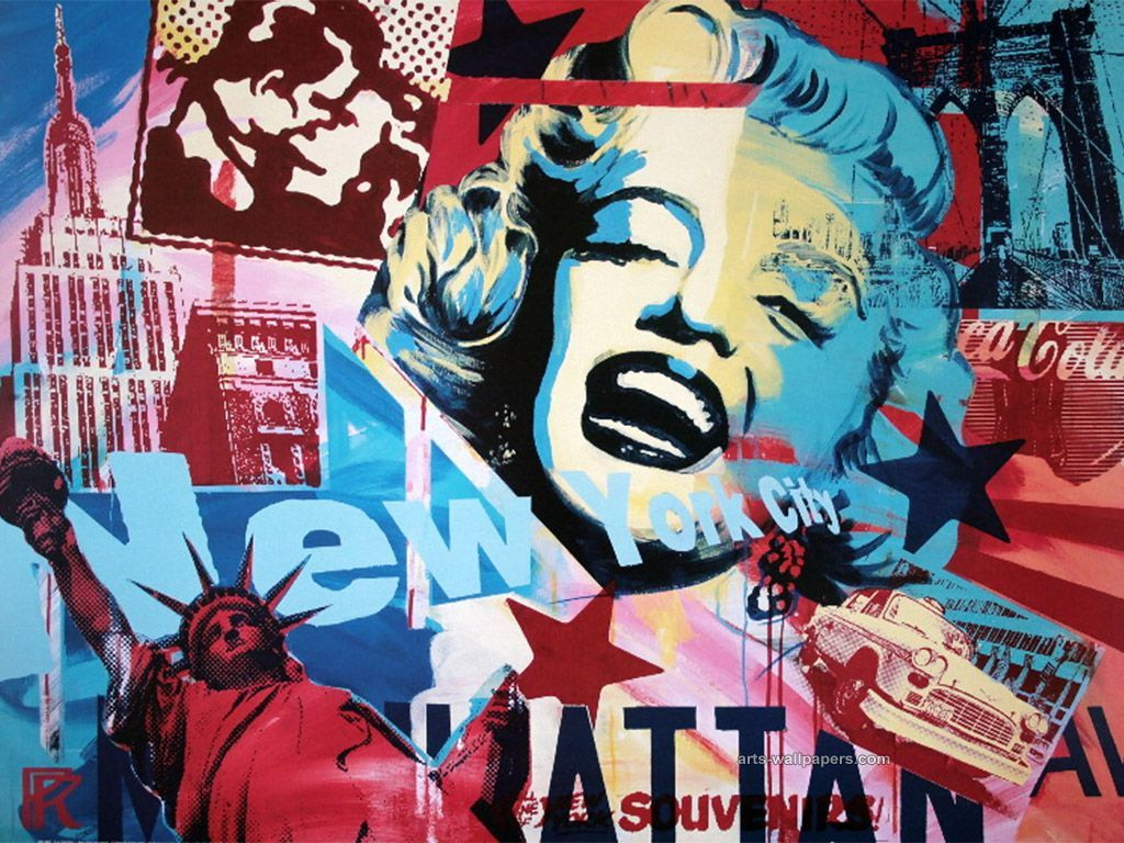 1024x768 Pop Art Andy Warhol Wallpaper Desktop | Andy's Marilyn/ Warhol ...