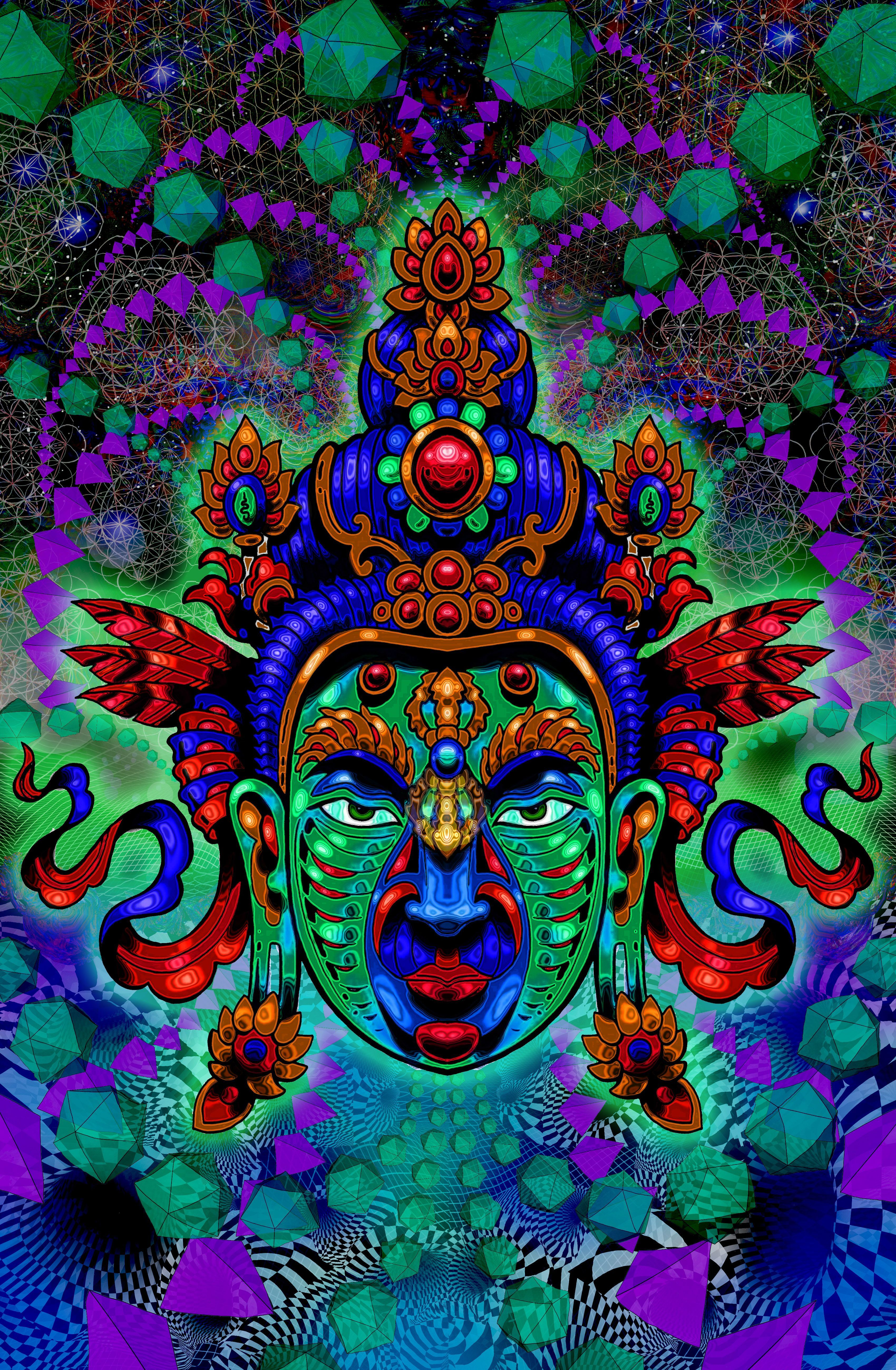 3400x5199 psychedelic buddha wallpapers - Google Search | psychedelic art