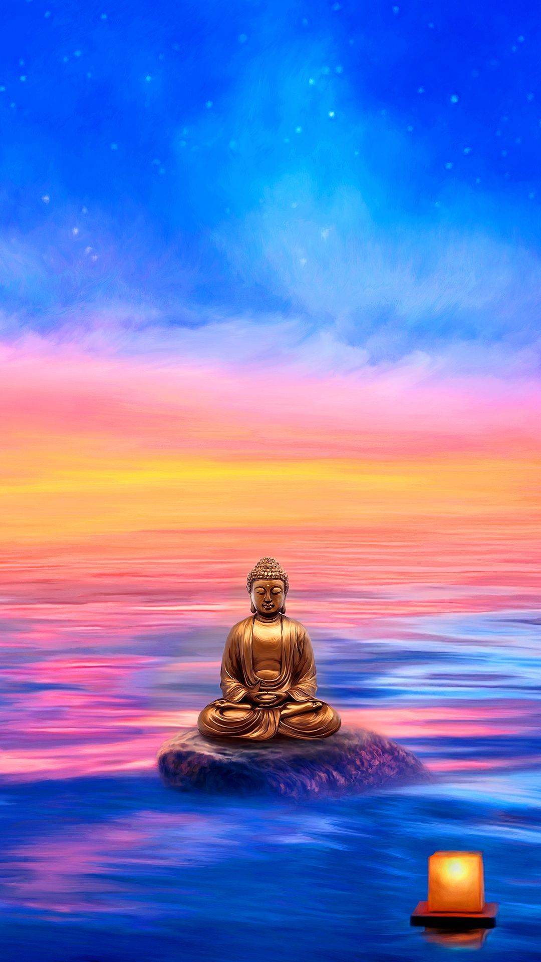 1080x1920 Buddha Wallpaper for Mobile Devices – Artwork by GoodVibesGallery ...