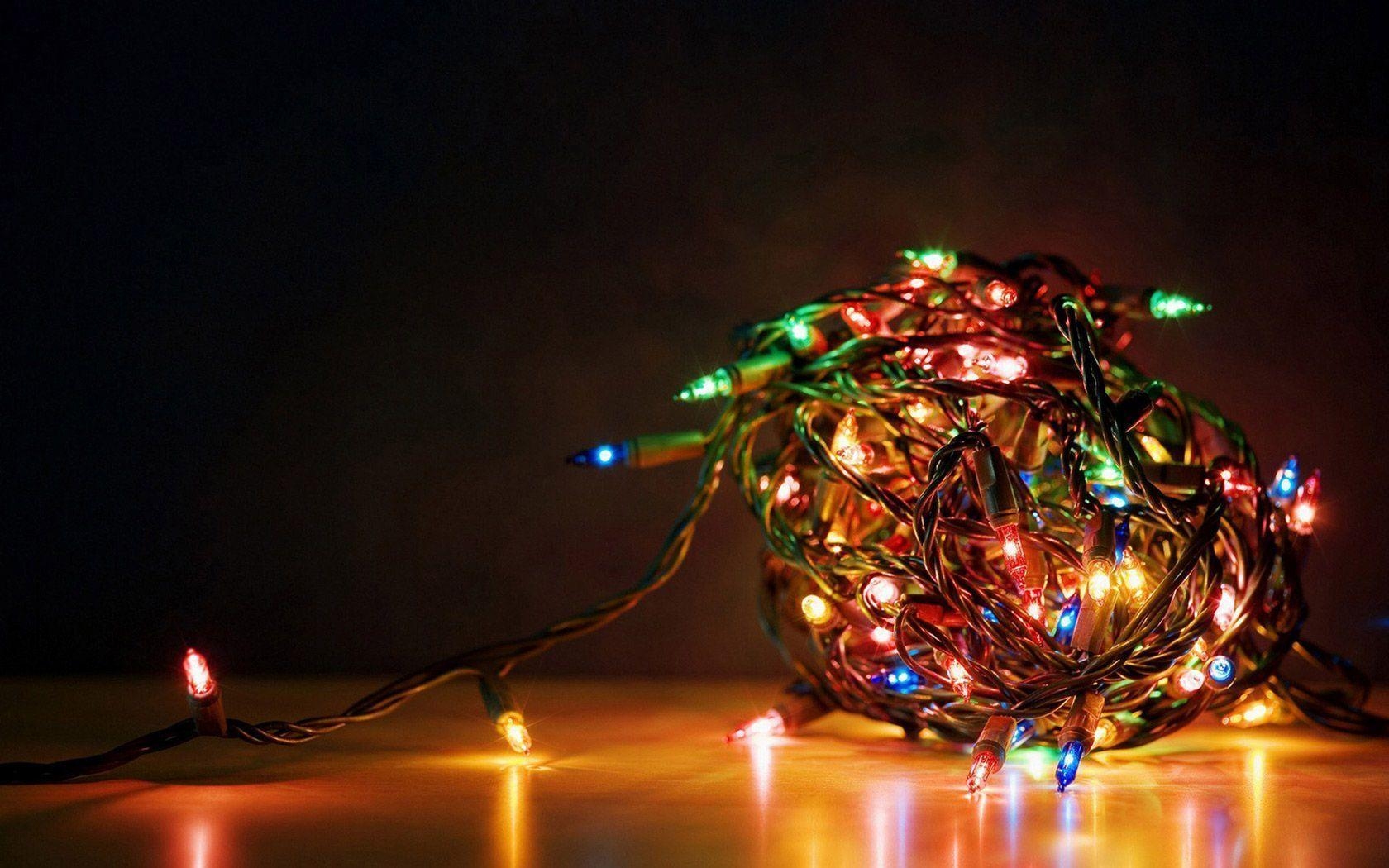 1680x1050 Christmas Lights Desktop Wallpapers